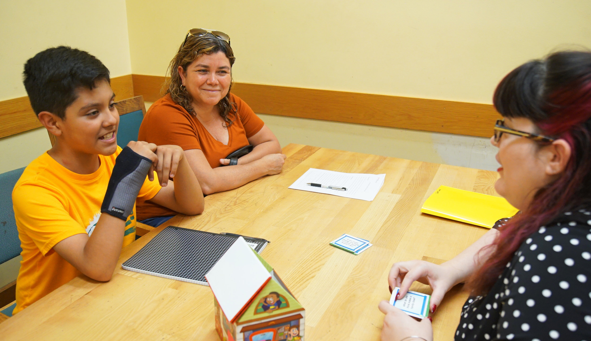 Stasha Powell during a tutoring session.