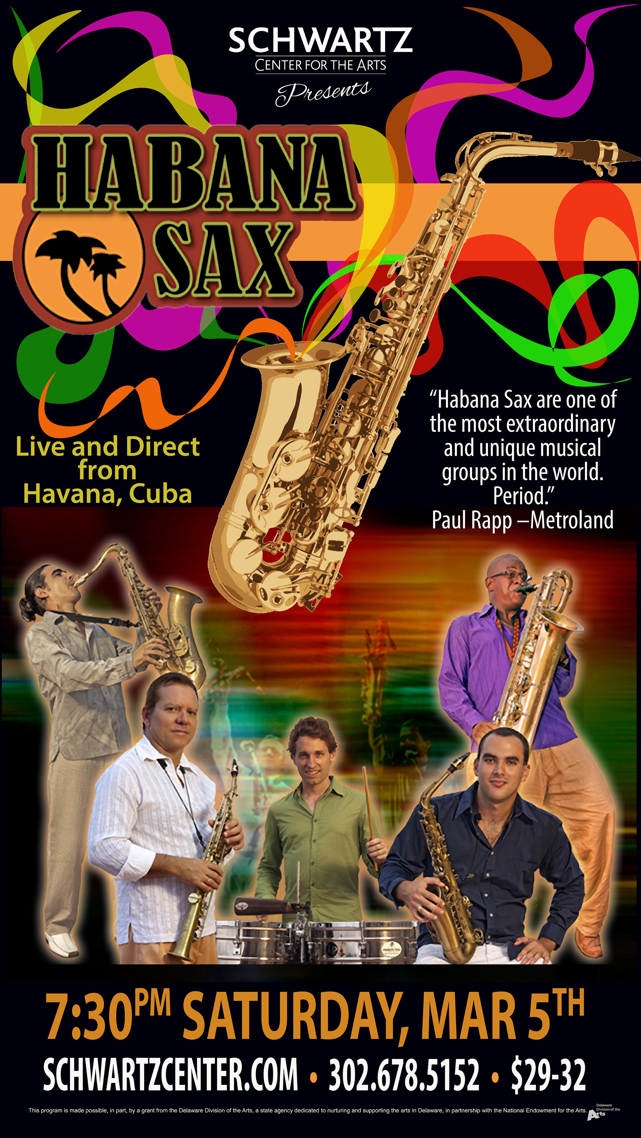 Concert Poster - Habana Sax