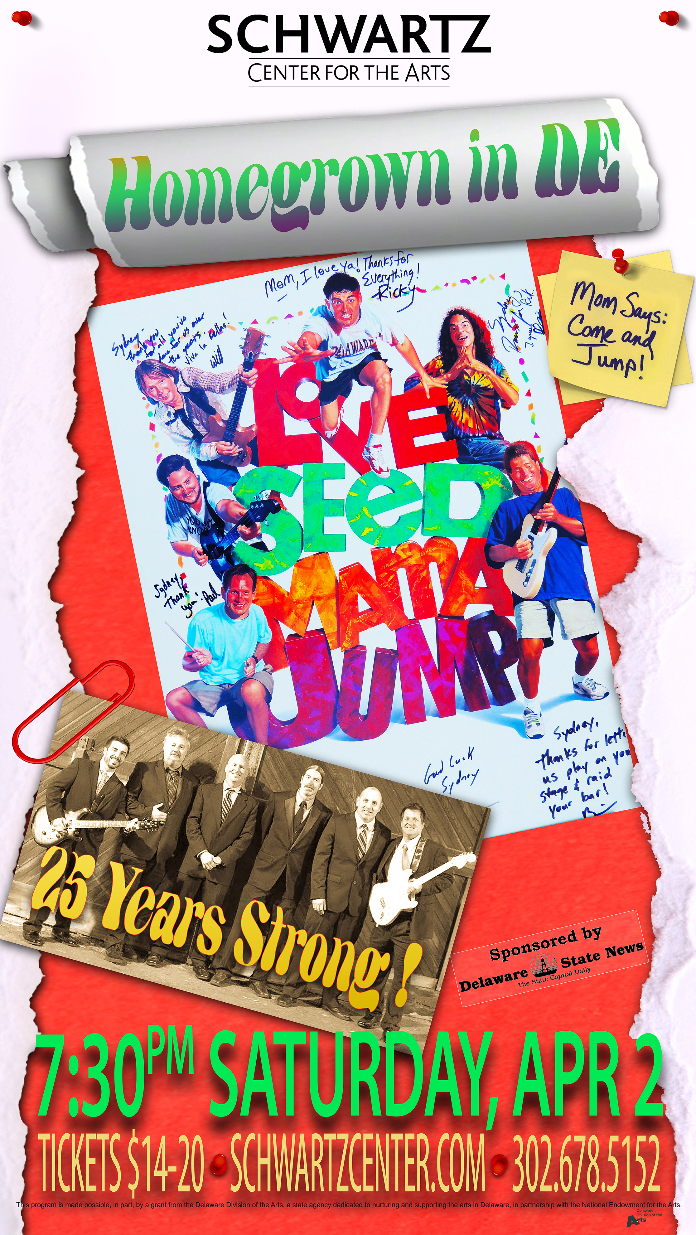 Concert Poster - Love Seed Mama Jump