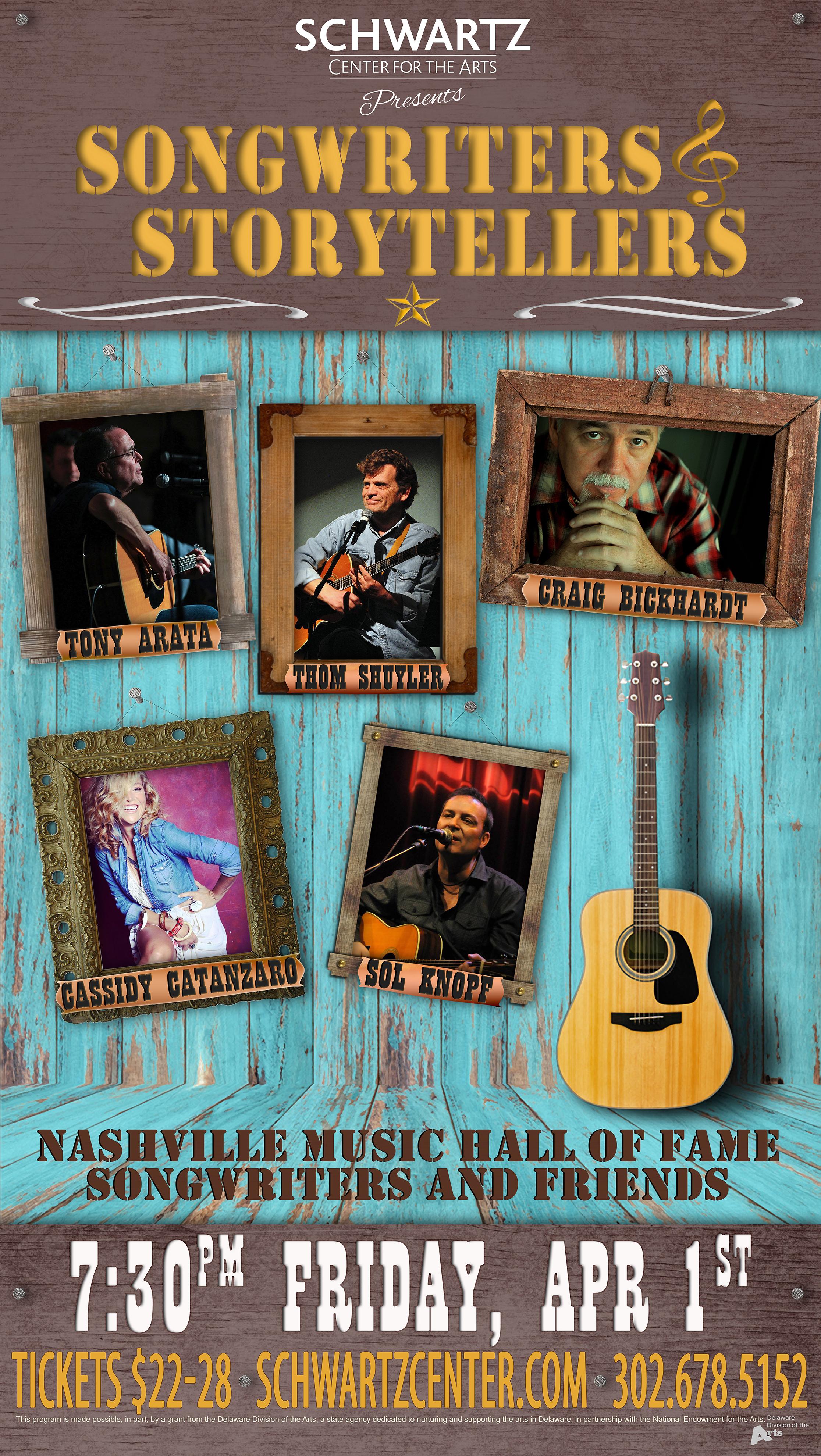 Concert Poster - Tony Arata, Thom Shuyler, Craig Bickhardt, Cassidy Catanzaro, Sol Knopf