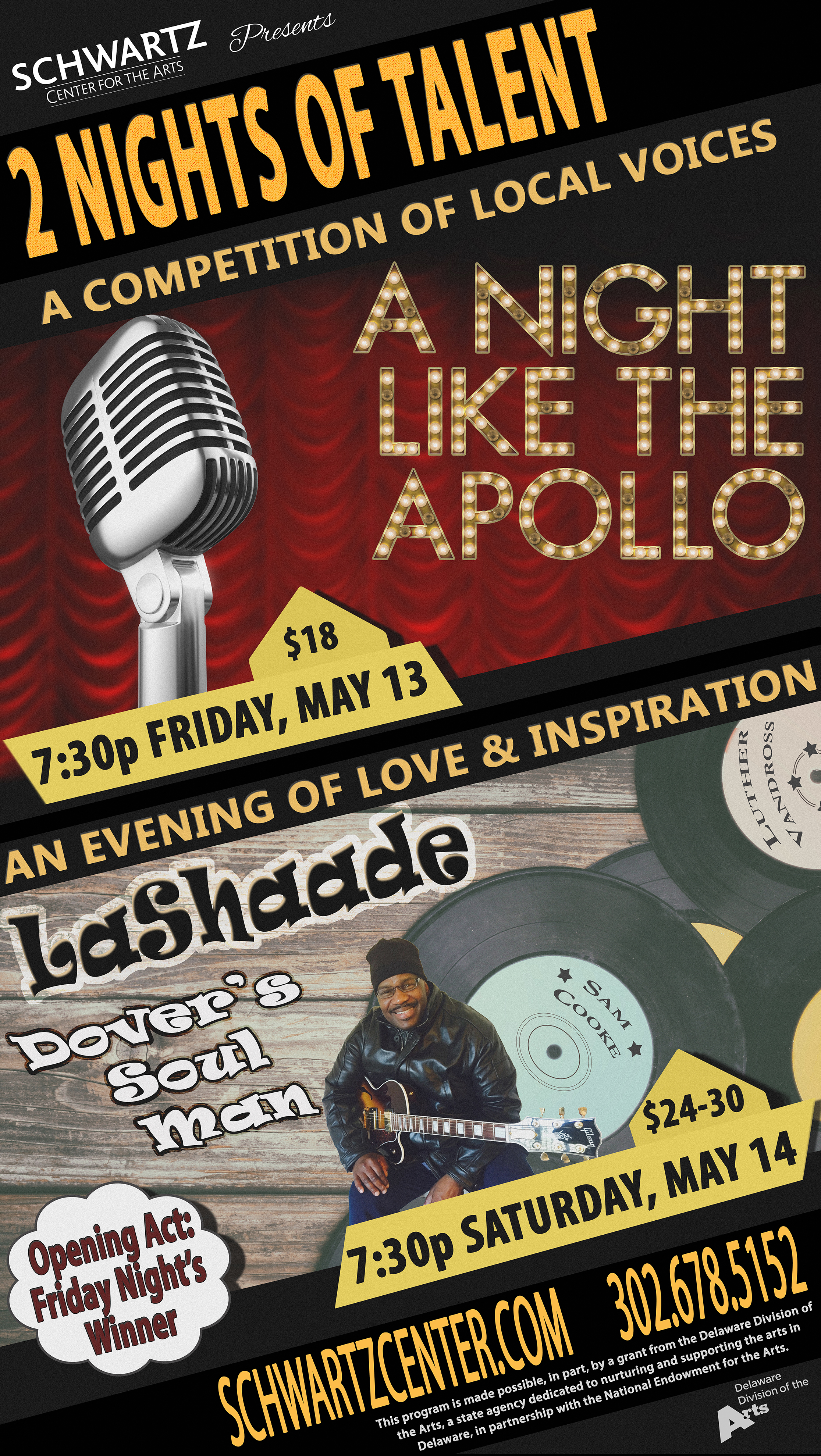 Concert & Event Poster - A Night Like the Apollo, LaShaade