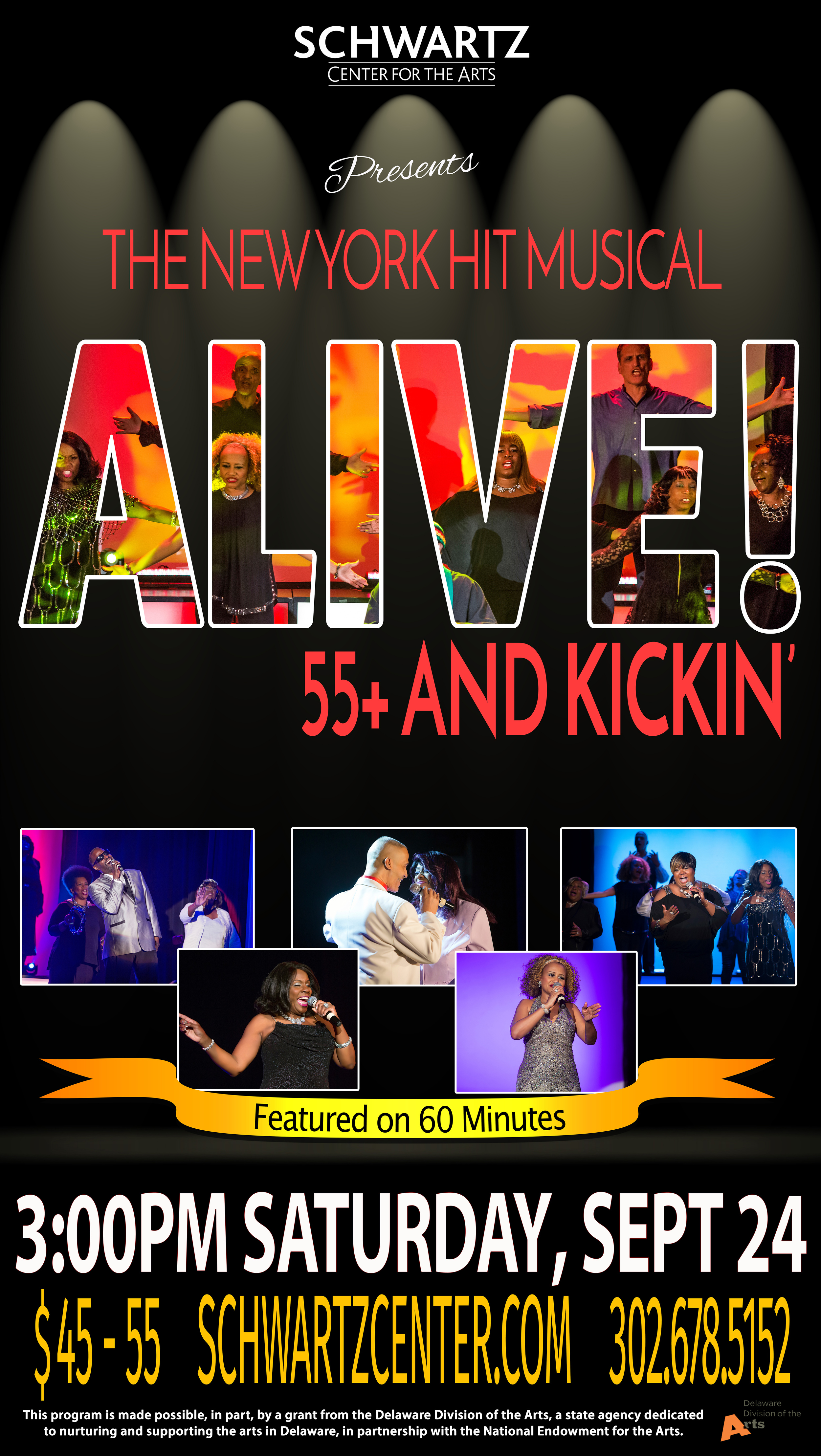 Theater Poster - Musical - Alive 55+ and Kickin