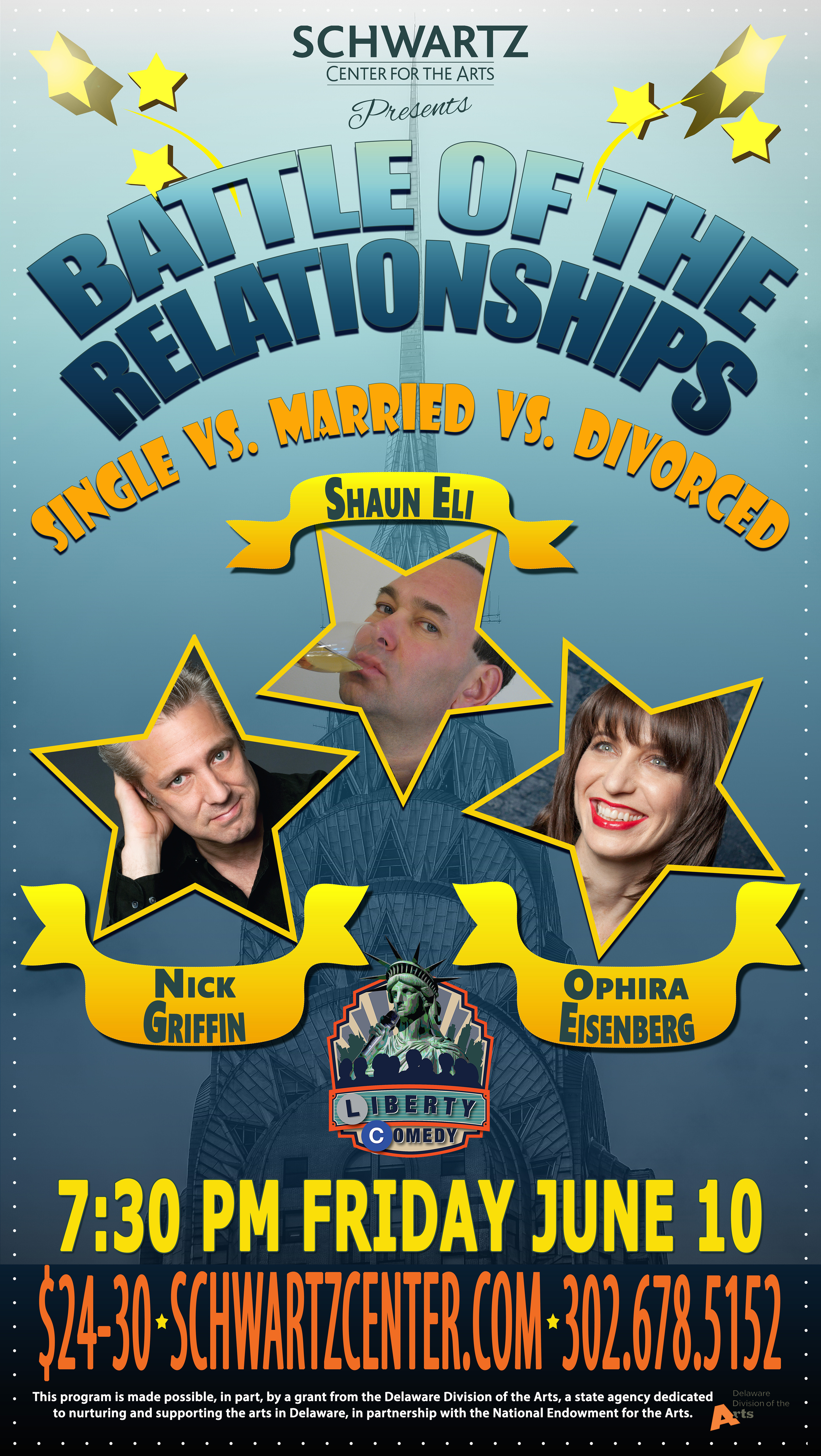 Event Poster - Comedy - Shaun Eli, Nick Griffin, Ophira Eisenberg