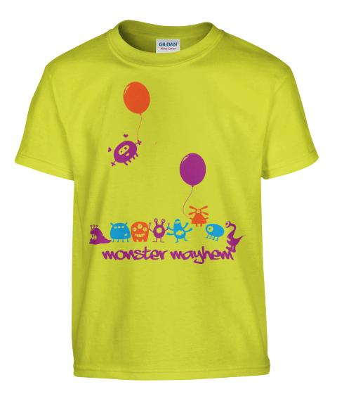 Kid's Tshirt Design - Graphic Tee - Monster Mayhem