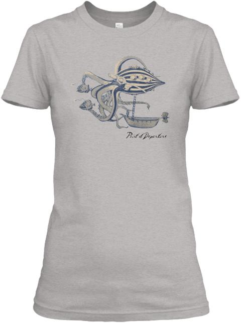 Tshirt Design - Graphic Tee - Vintage Steampunk Octopus