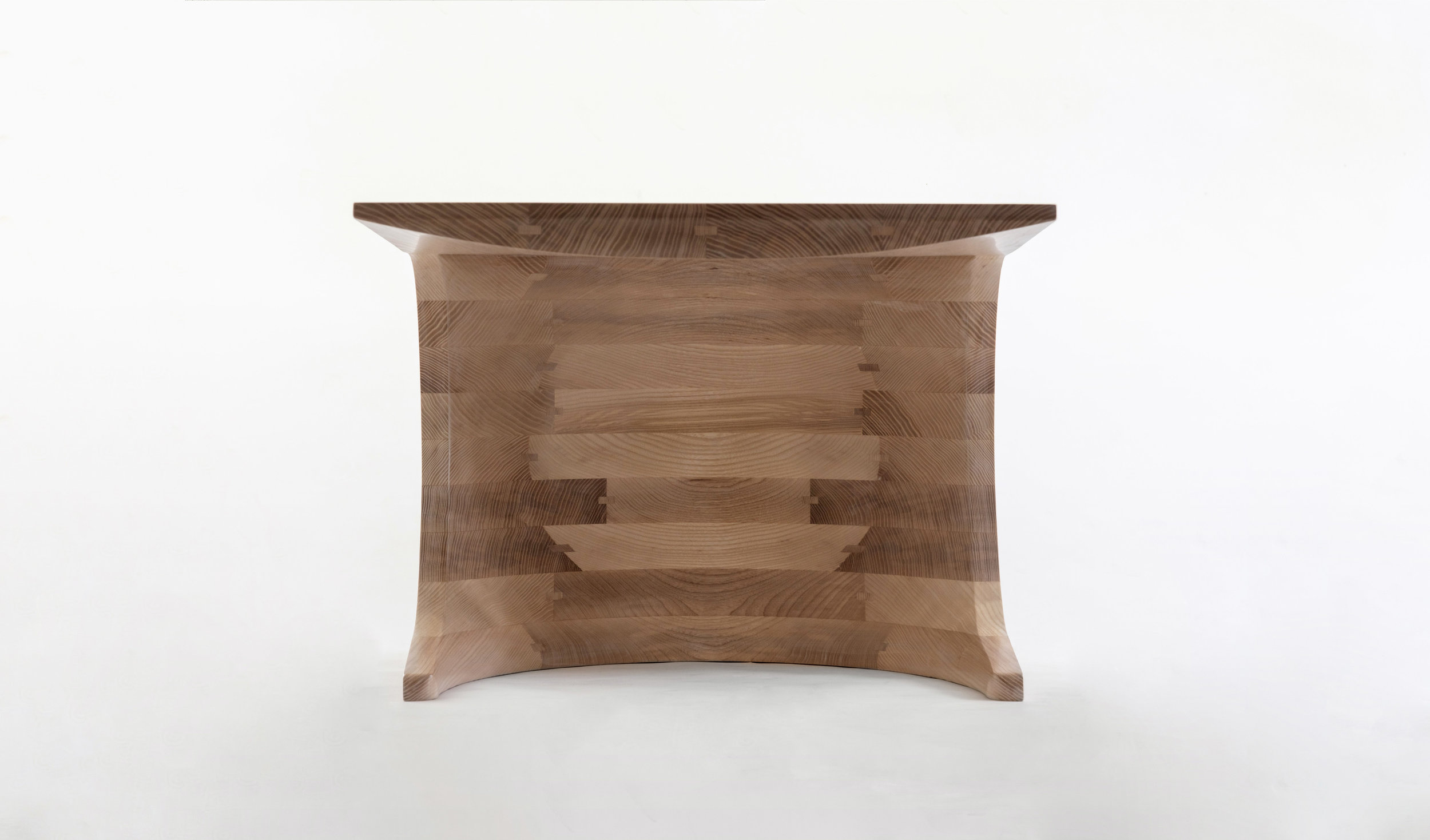 Tephra coffee table, hand shaped from native Ash