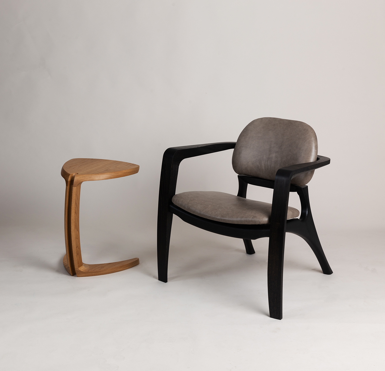 Amplex Chair and Fleure side Table by Alan Flannery Furniture Design L3.jpg