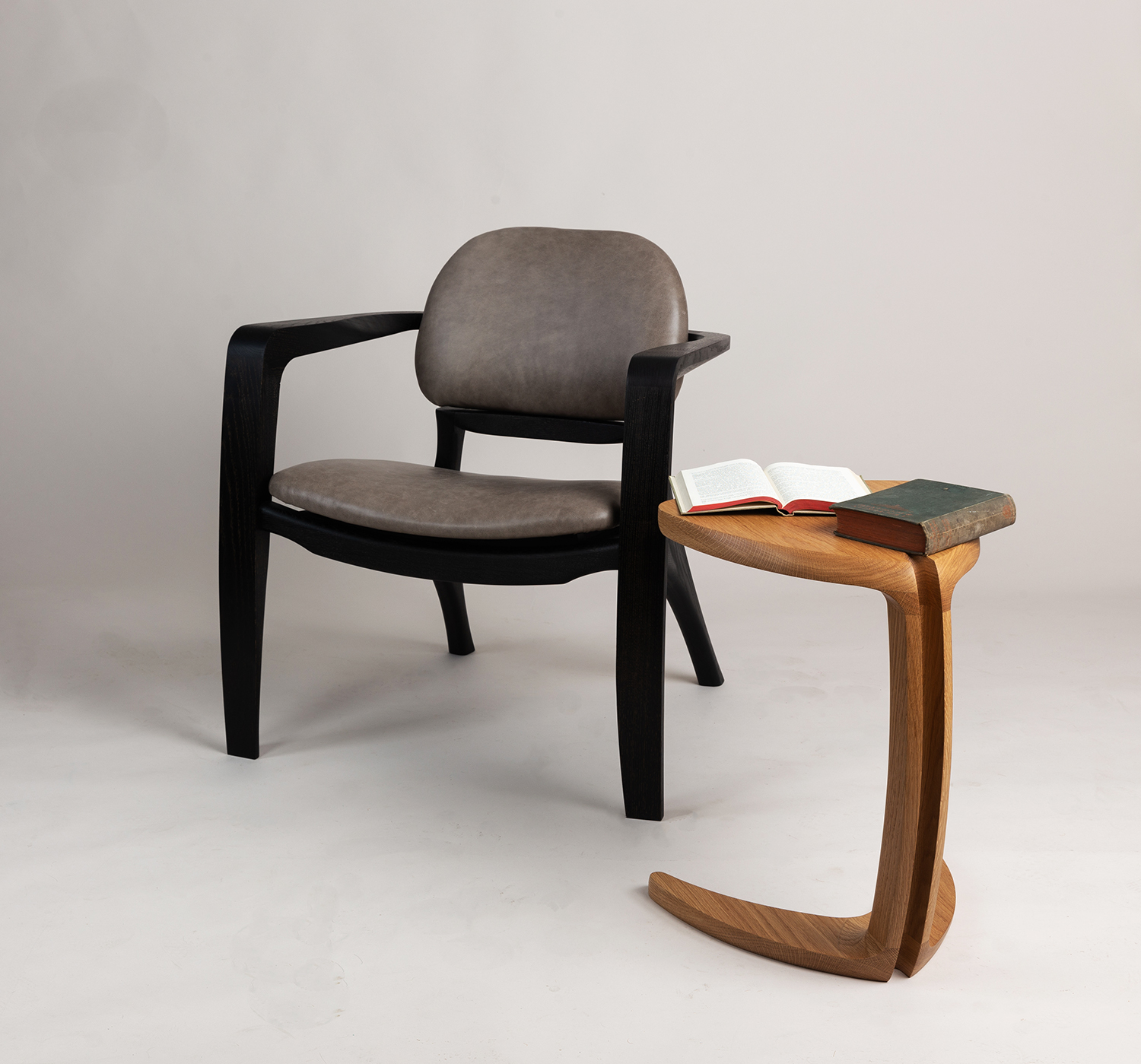 Amplex Chair and Fleure side Table by Alan Flannery Furniture Design L9.jpg