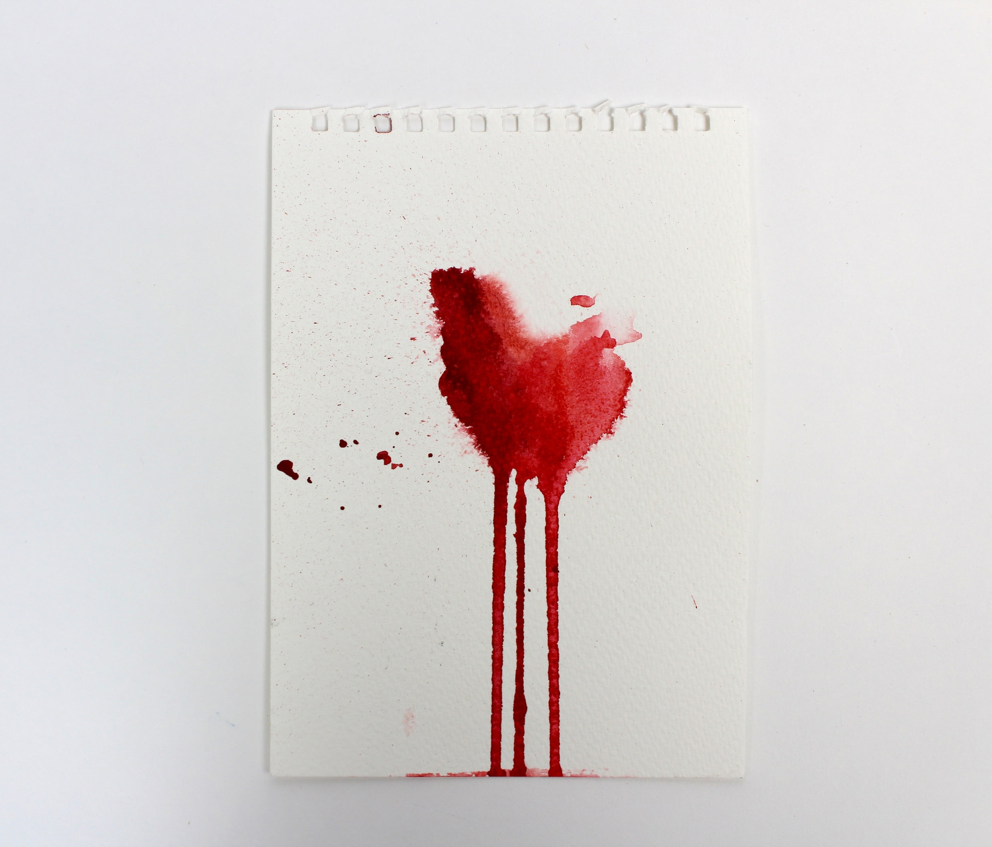 Blood Stained I  5 x 7 inch