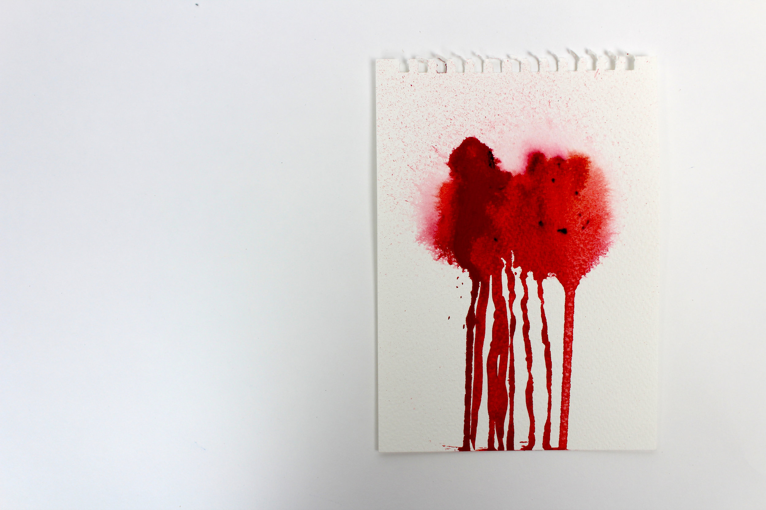 Blood Stained III  5 x 7 inch