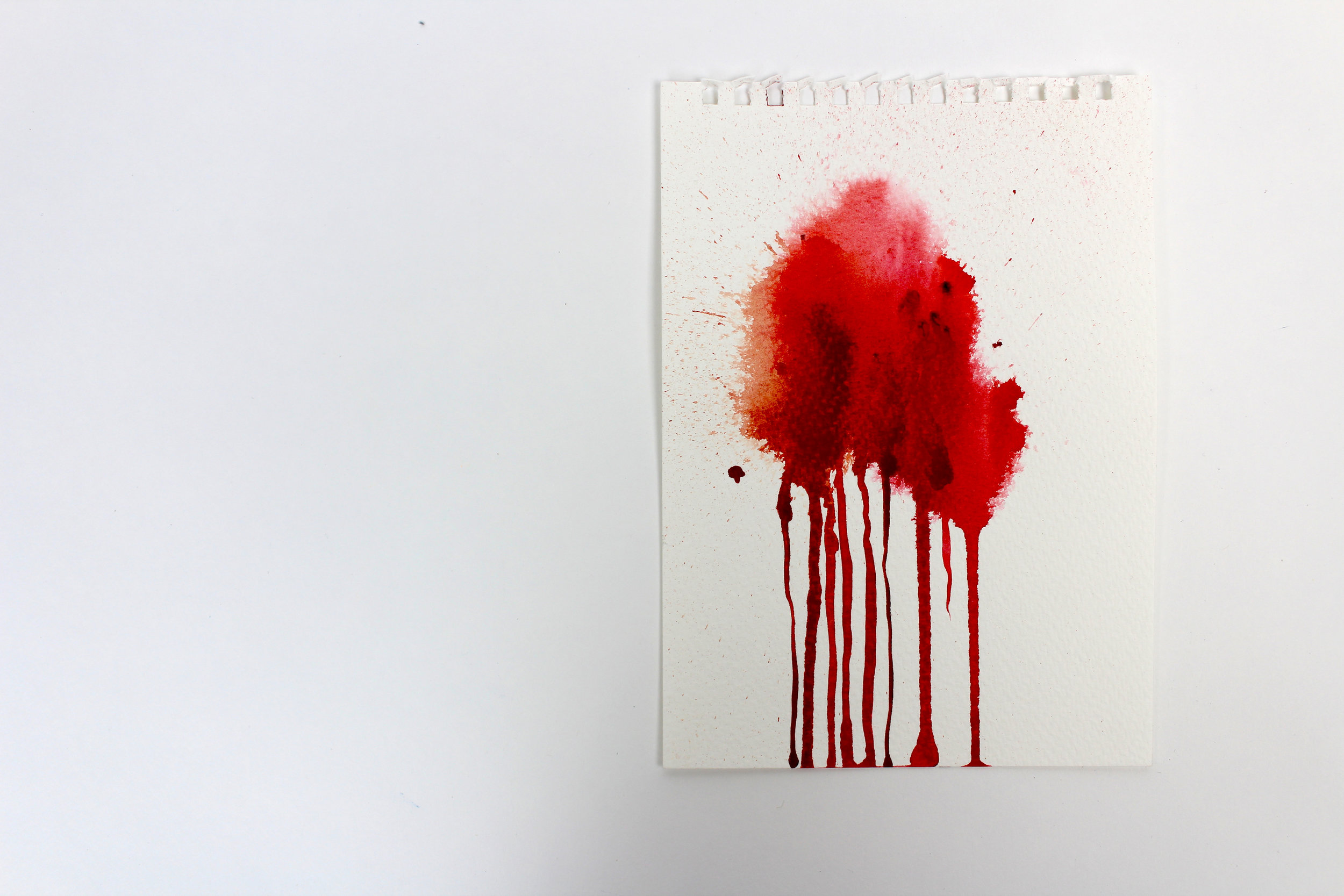 Blood Stained IV  5 x 7 inch