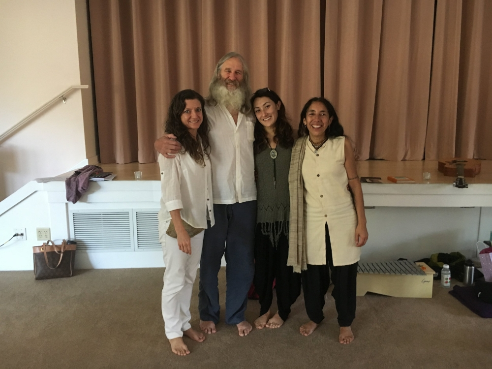 """Kristen Volpone with her teacher's Biff Mithoefer and Prema Mayi at Yogaville Ashram with Sita Rose. Kristen was assisting the Yin Yoga Teacher Training """"Embracing the Yin Path"""" Module 2."""