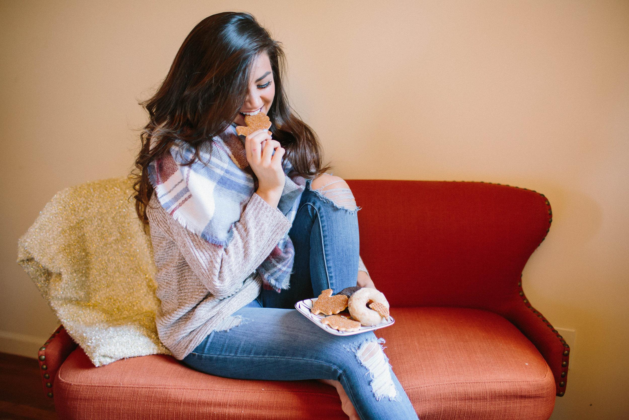 Caila Quinn Thanksgiving Turkey Cookie Smile