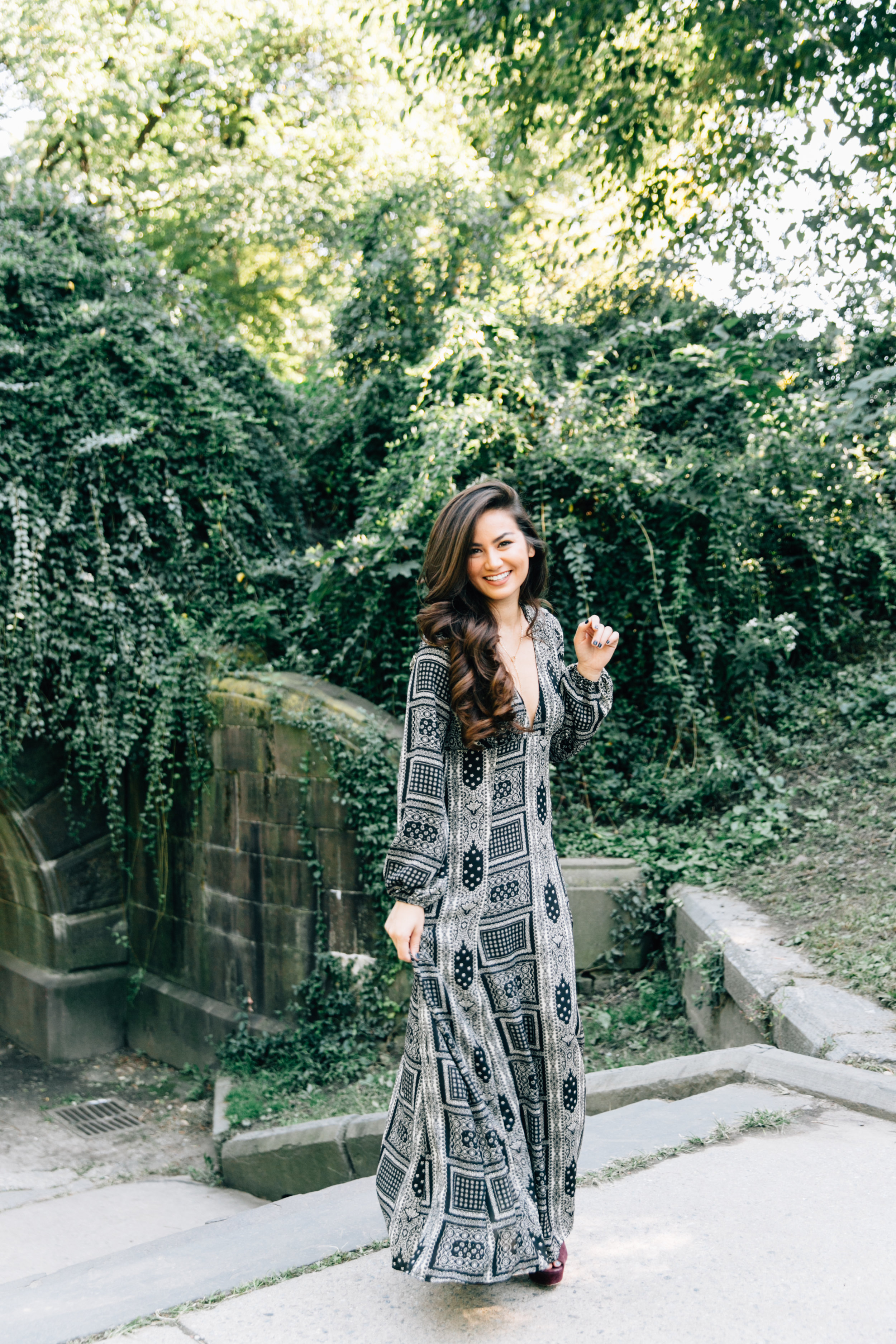 Central Park NYC Dress Caila Quinn Standing