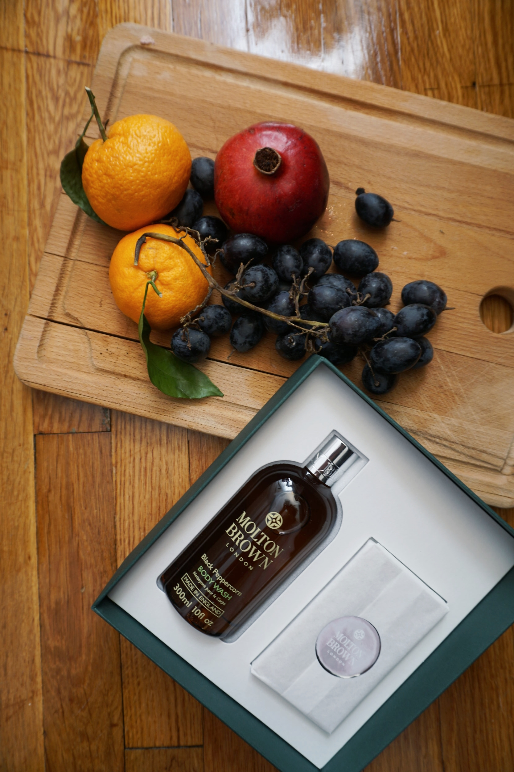 """Black Pepper Body Wash & Body Scrub Bar Holiday Gift Set for Him    """"A multitasking grooming essential and Molton Brown bestseller, this Holiday gift set for him is ideal for the adventurous gentleman on your list."""" -MB"""