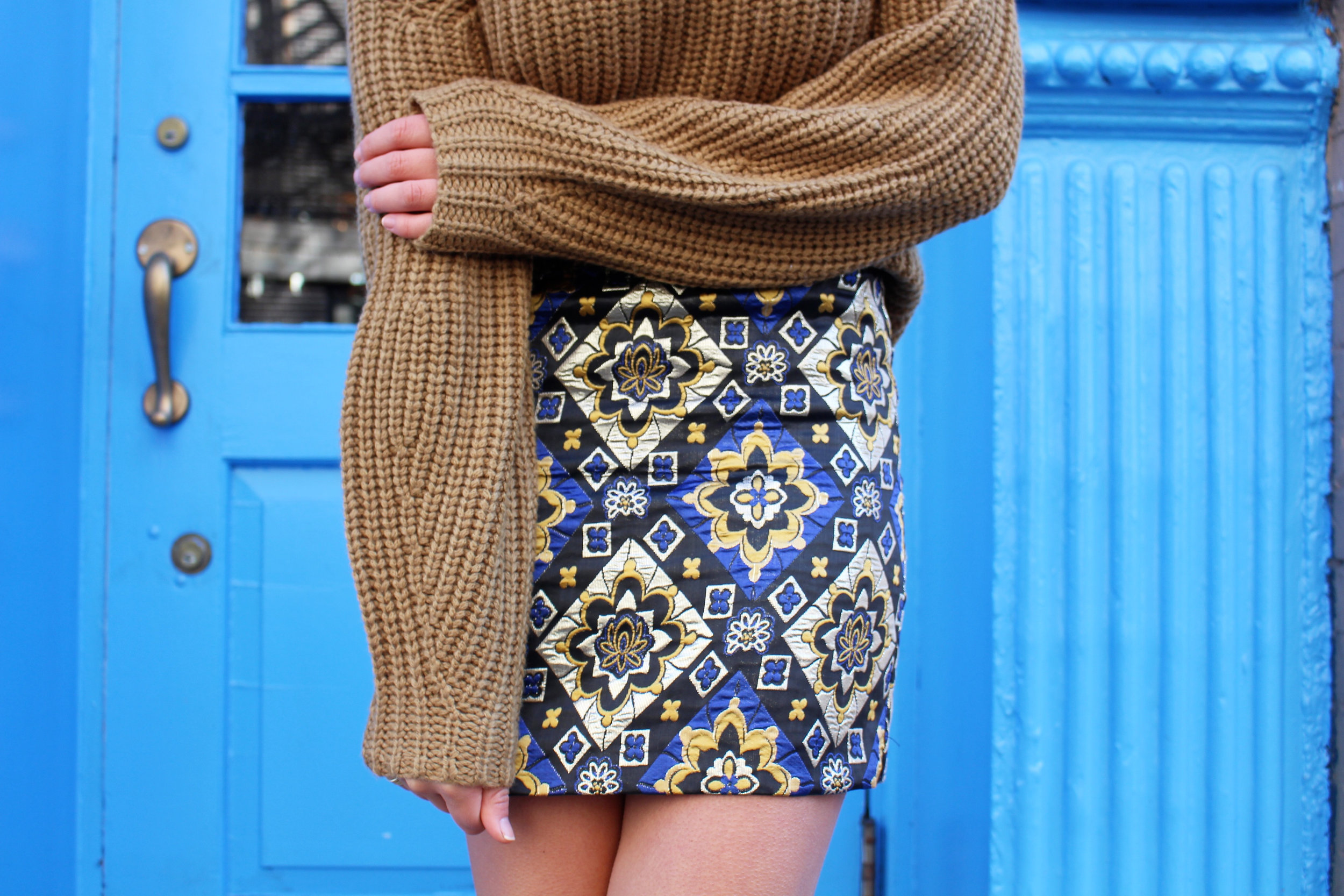 LOFT Mustard Christmas Sweater Caila Quinn