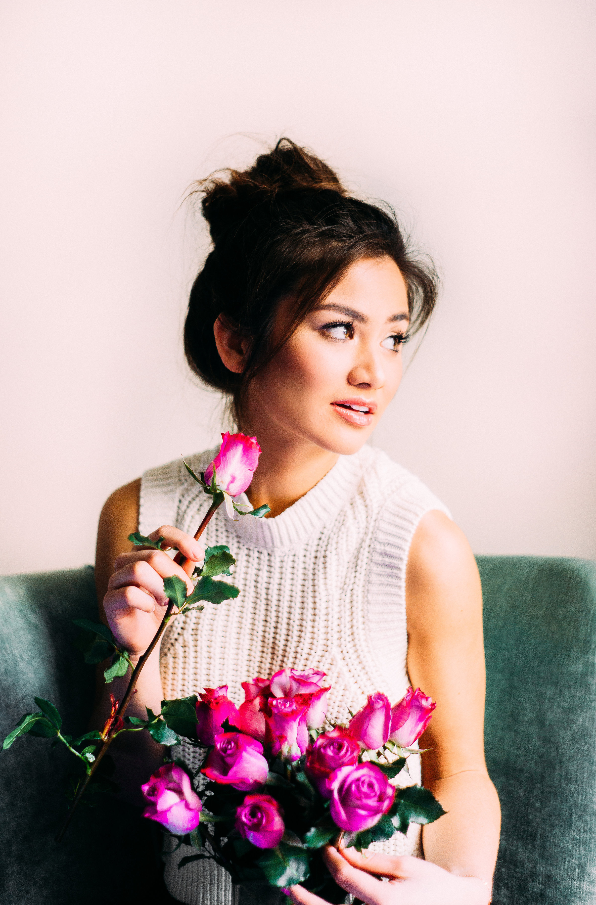 Caila Quinn with Roses