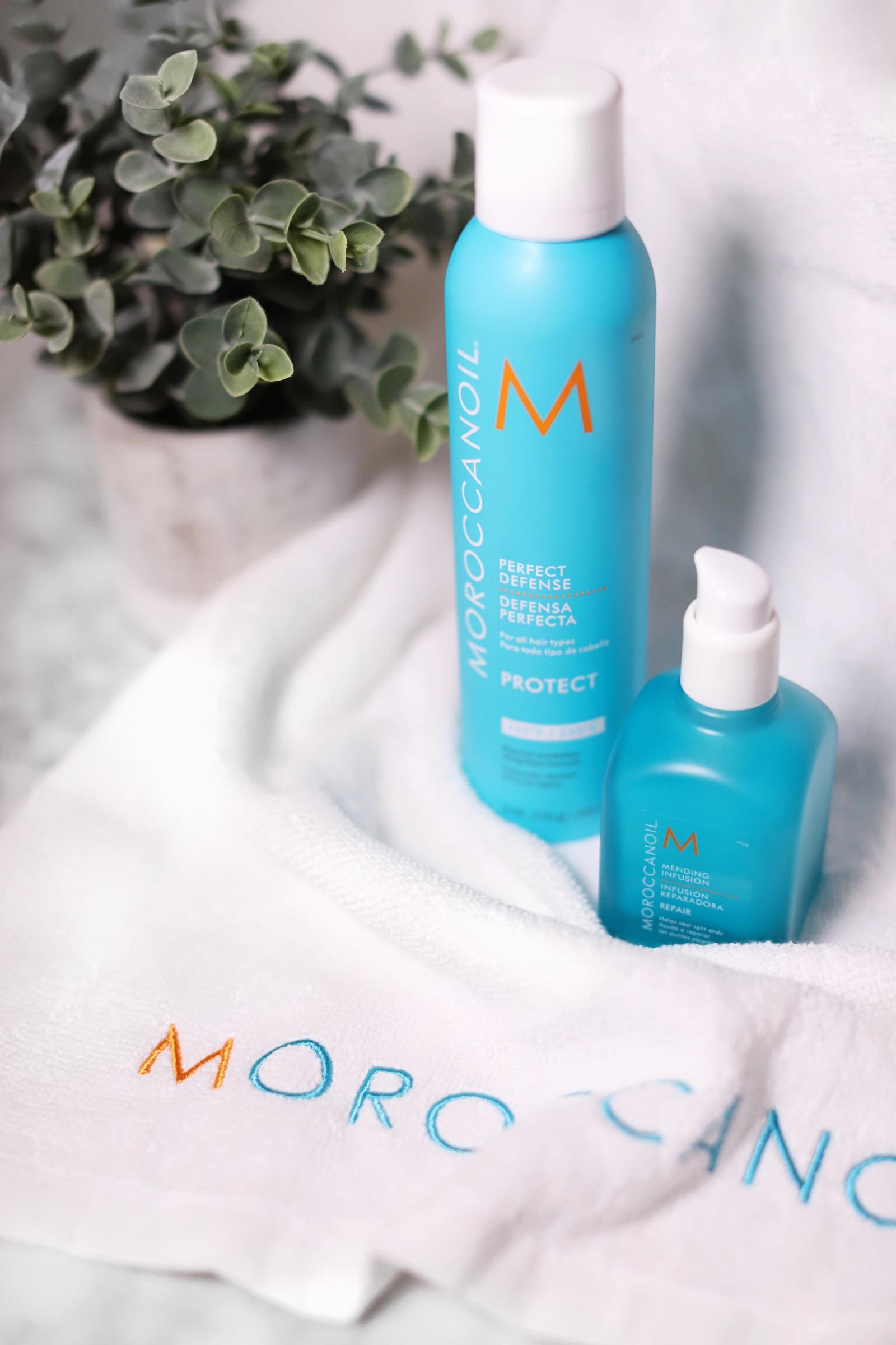 (Left) Moroccanoil® Perfect Defense   (Right) Moroccanoil® Mending Infusion