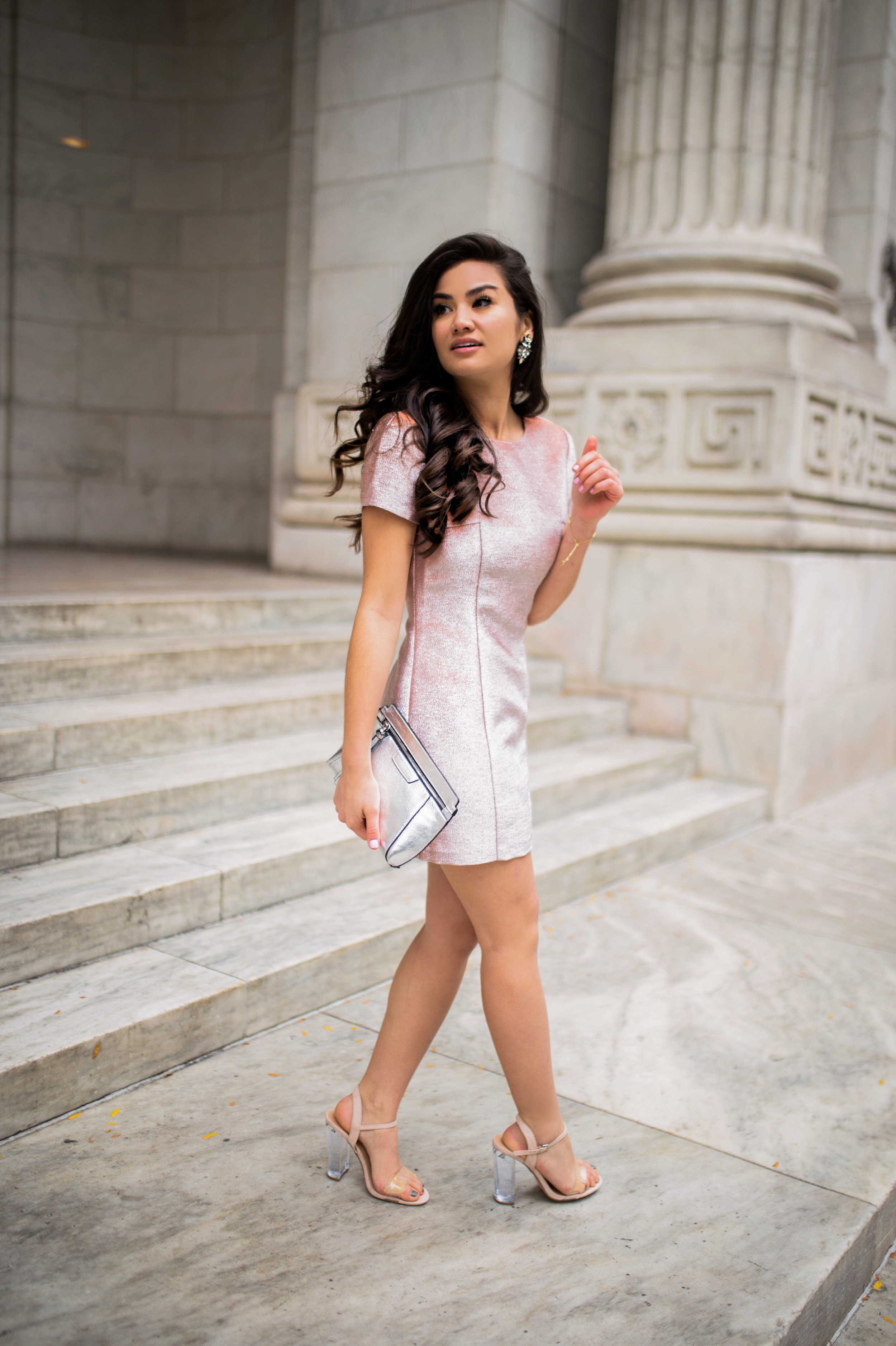 Express New York Holiday Dress with Caila Quinn