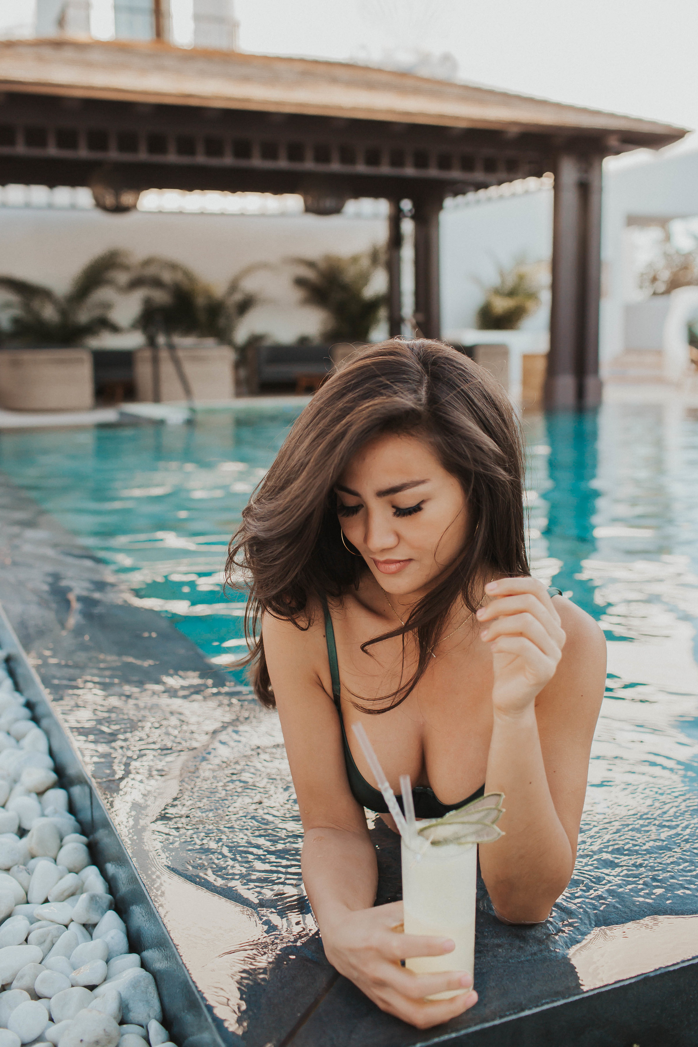 Caila Quinn at Nobu Hotel in Marbella, Spain