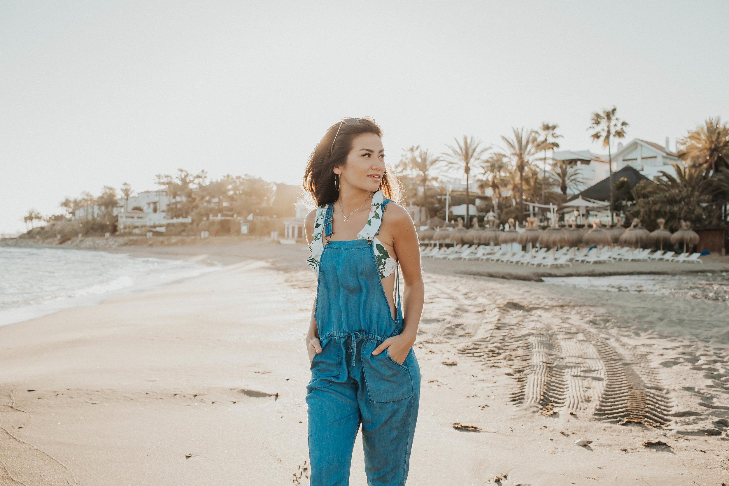 Caila Quinn at Nobu Hotel in Marbella, Spain