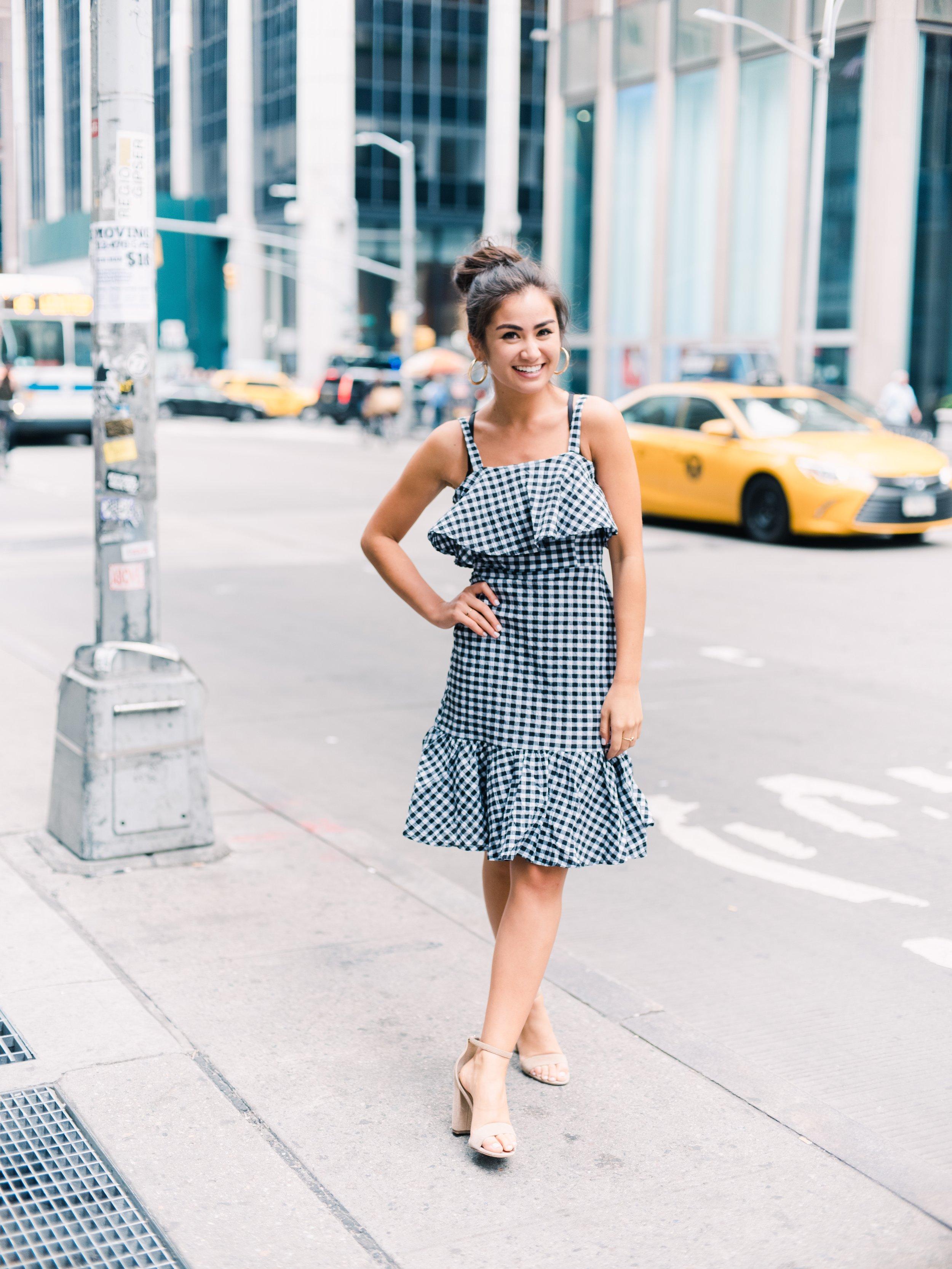 Caila Quinn Summer 2018 Nordstrom Rack Gingham dress