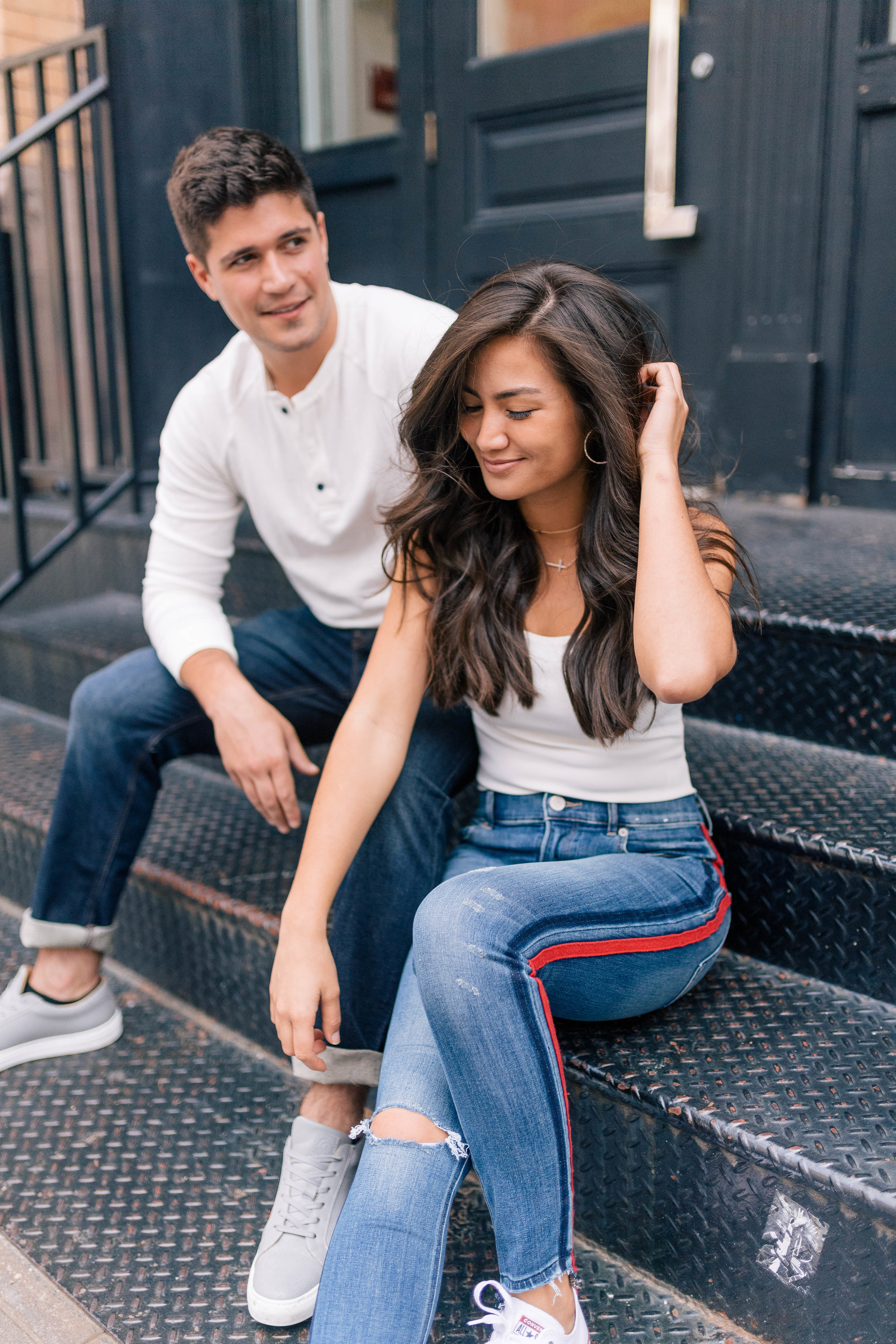 Caila Quinn & Nick Burrello in Express Jeans