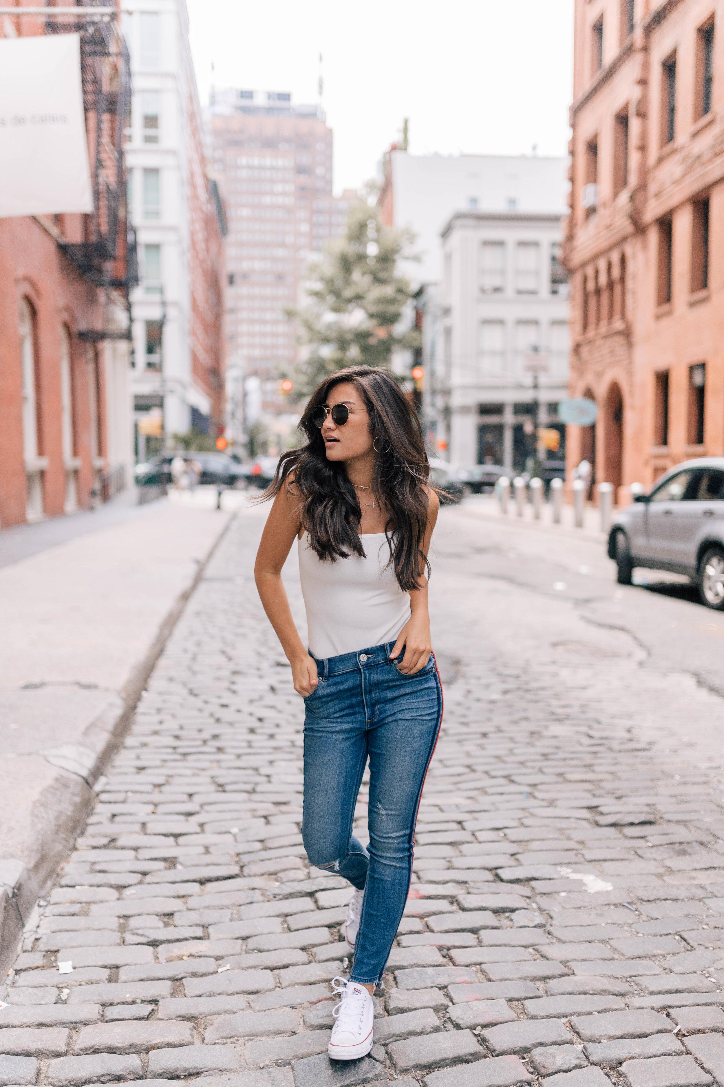 Caila Quinn & Nick Burrello Express Jeans