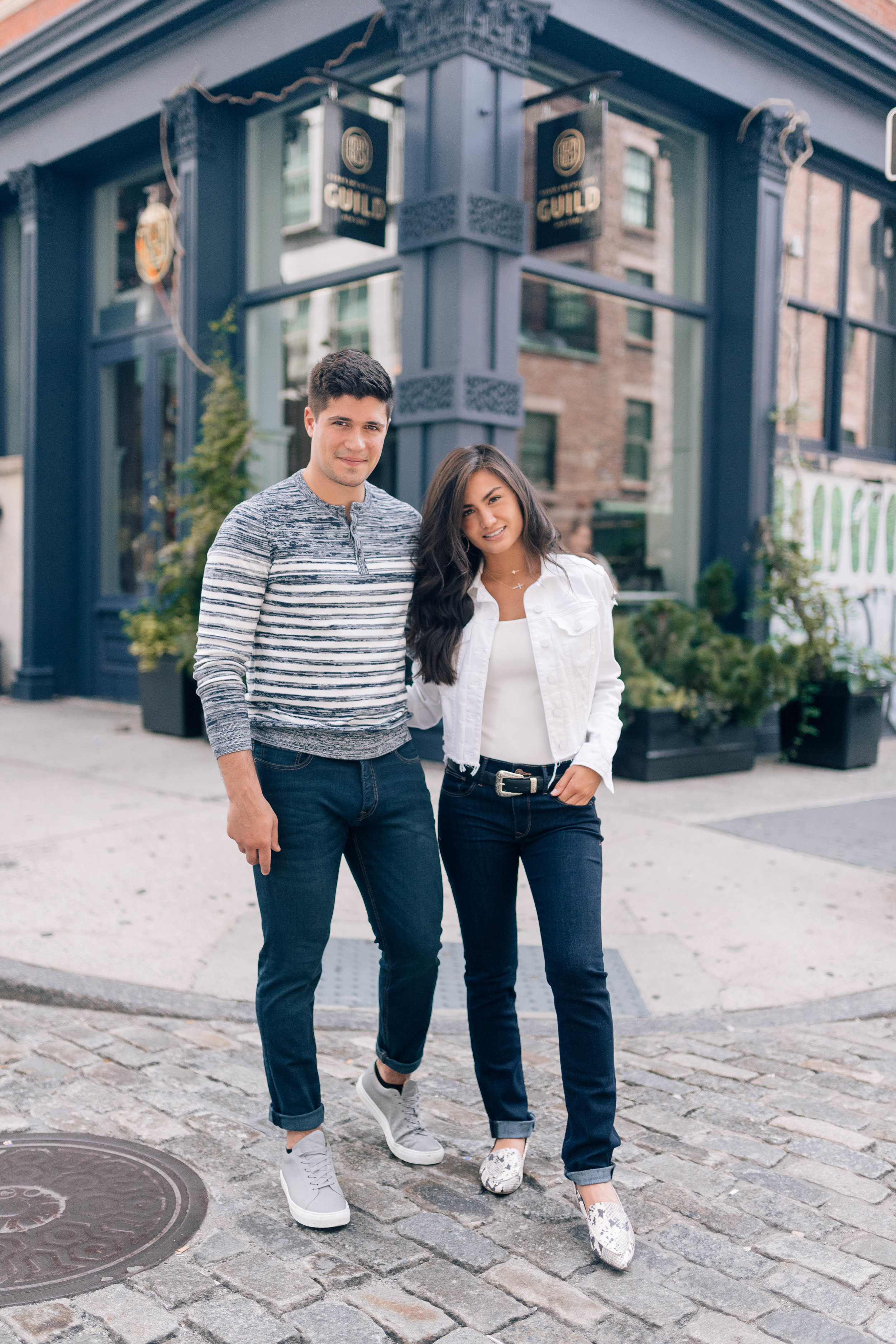 Caila Quinn and Nick Burrello Express Jeans
