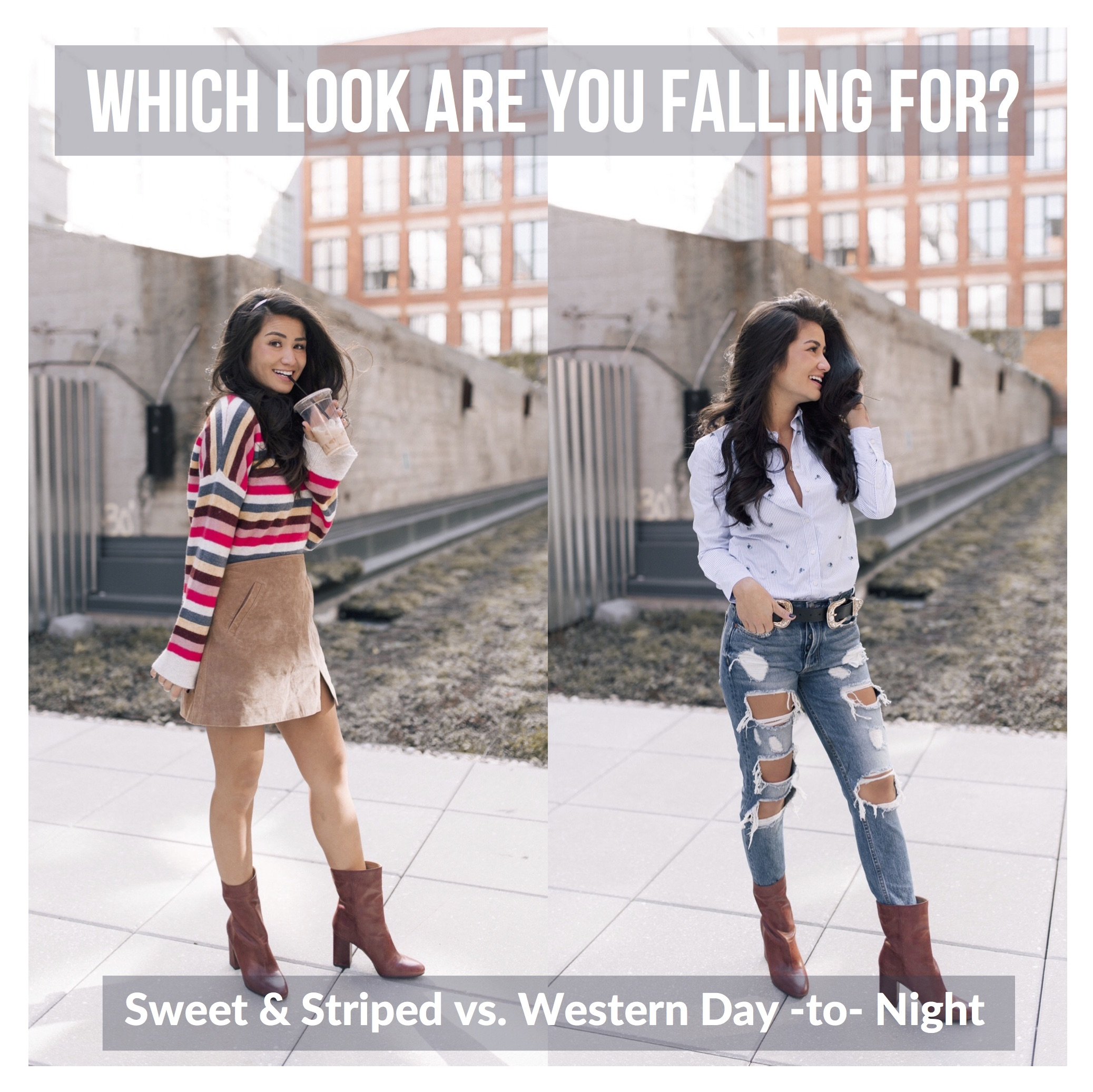 Caila Quinn the Bachelor Fall Looks with DSW Shoes