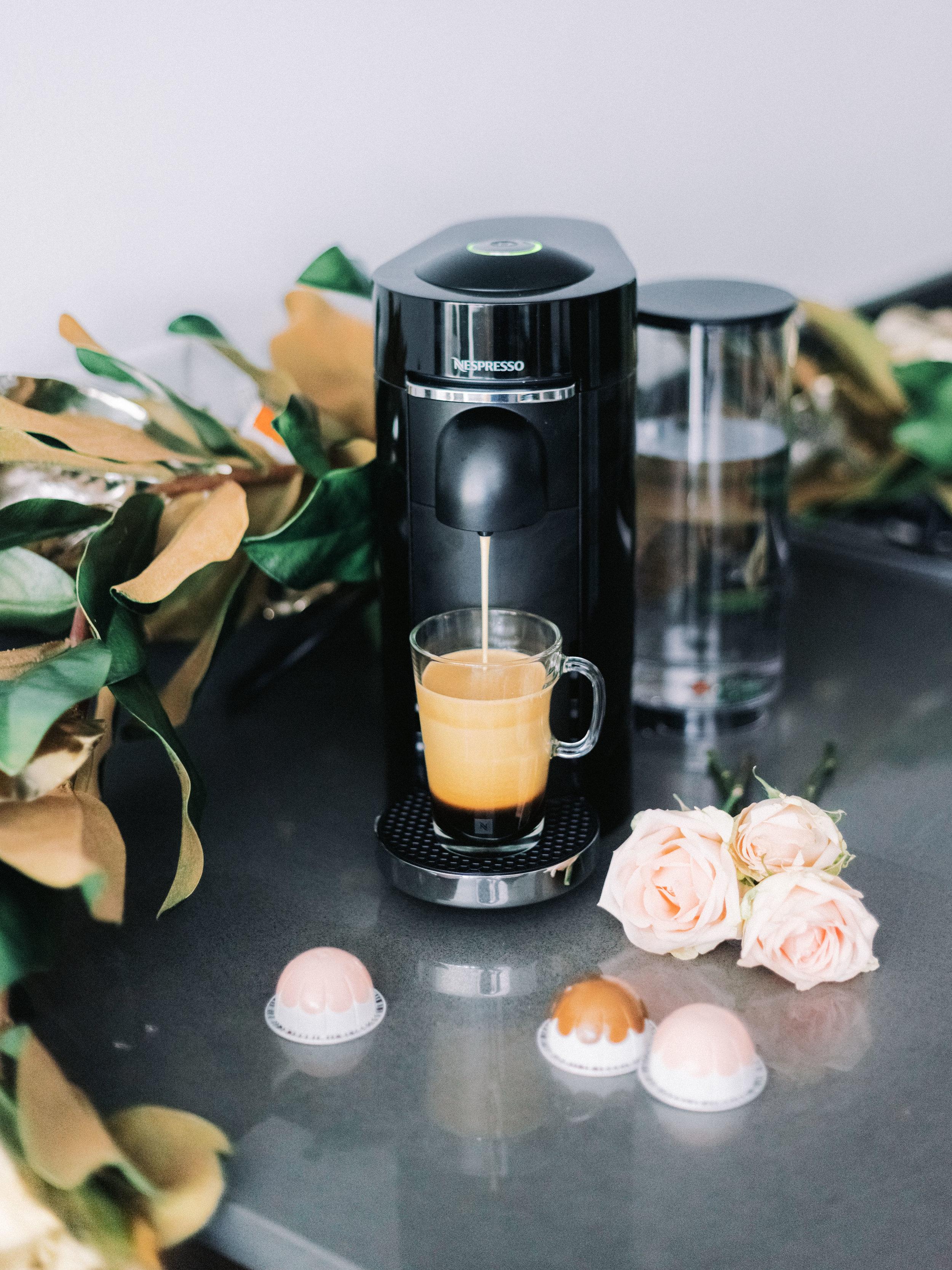 The Bachelor Caila Quinn and Sharleen Joynt enjoying Nespresso Coffee Machine a premium holiday gift in their New York City Kitchen