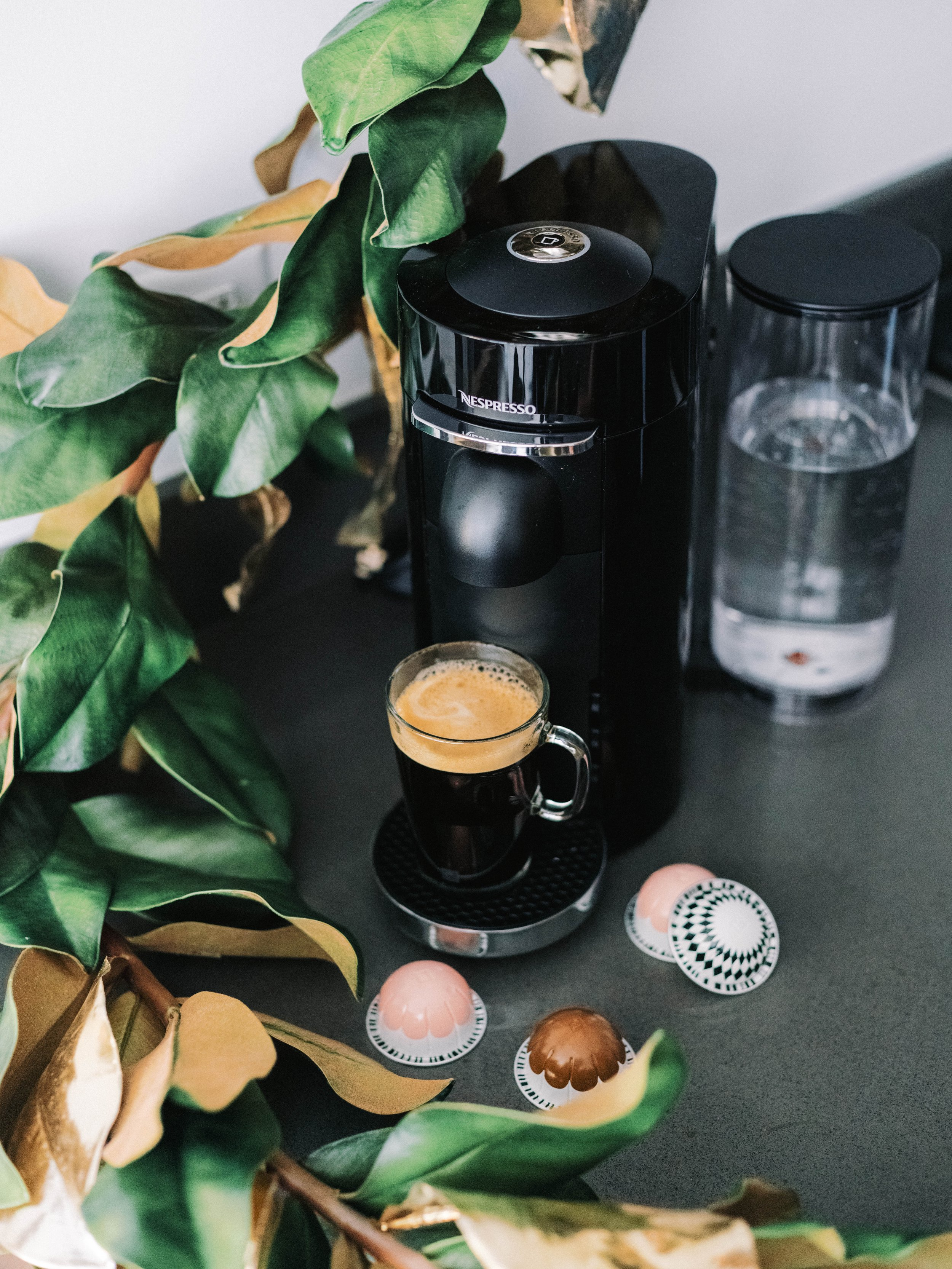 The Bachelor Caila Quinn Drinking Holiday Nespresso Coffee in Brooklyn Kitchen