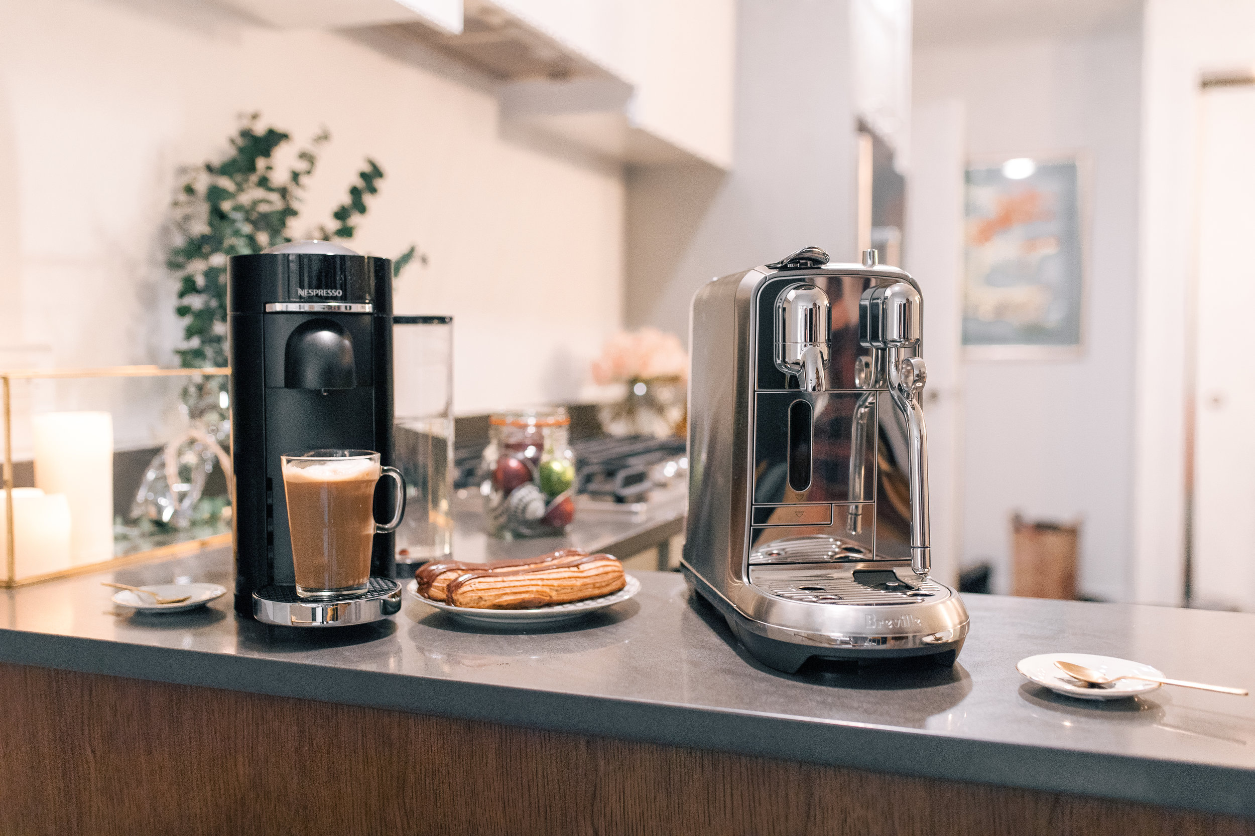 Left: Nespresso VertuoPlus Deluxe D Range Black  Right: Nespresso Creatista Plus Metal Stainless Steel