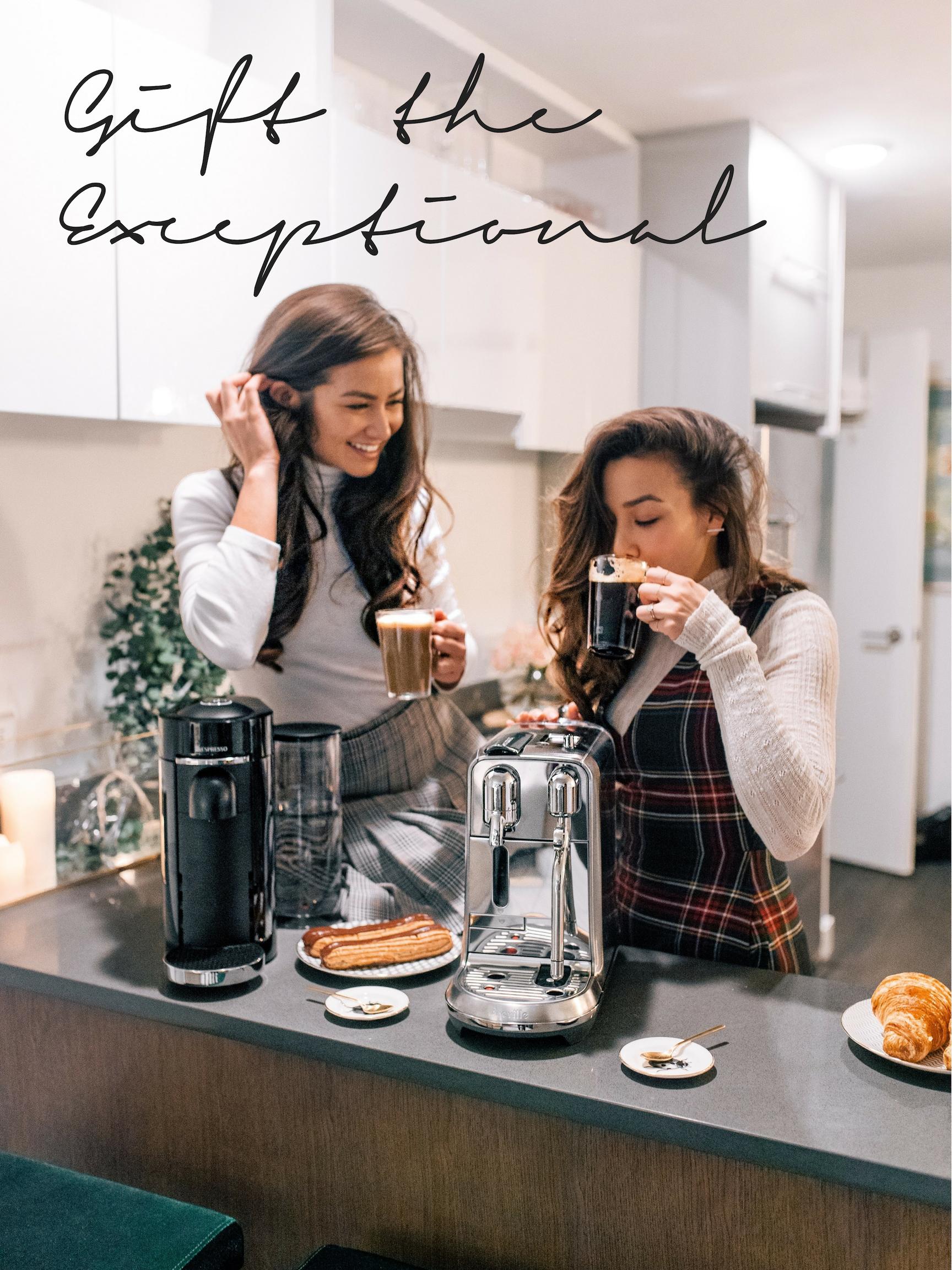 The+Bachelor+Caila+Quinn+and+Sharleen+Joynt+enjoying+Nespresso+Coffee+Machine+a+premium+holiday+gift+in+their+New+York+City+Kitchen.jpg
