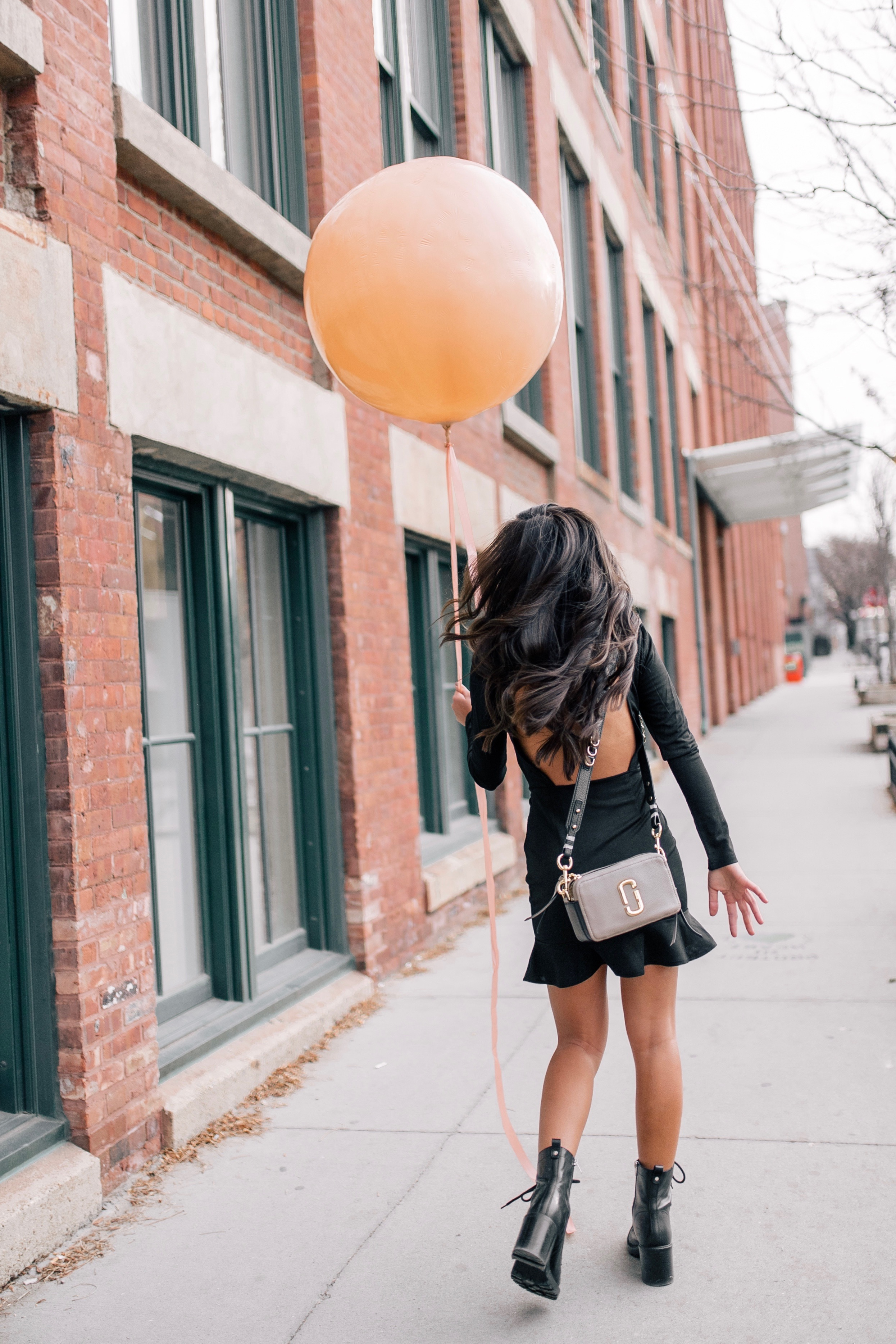 The Bachelor Caila Quinn 27th Birthday Black Dress Boots Outfit Dumbo Brooklyn