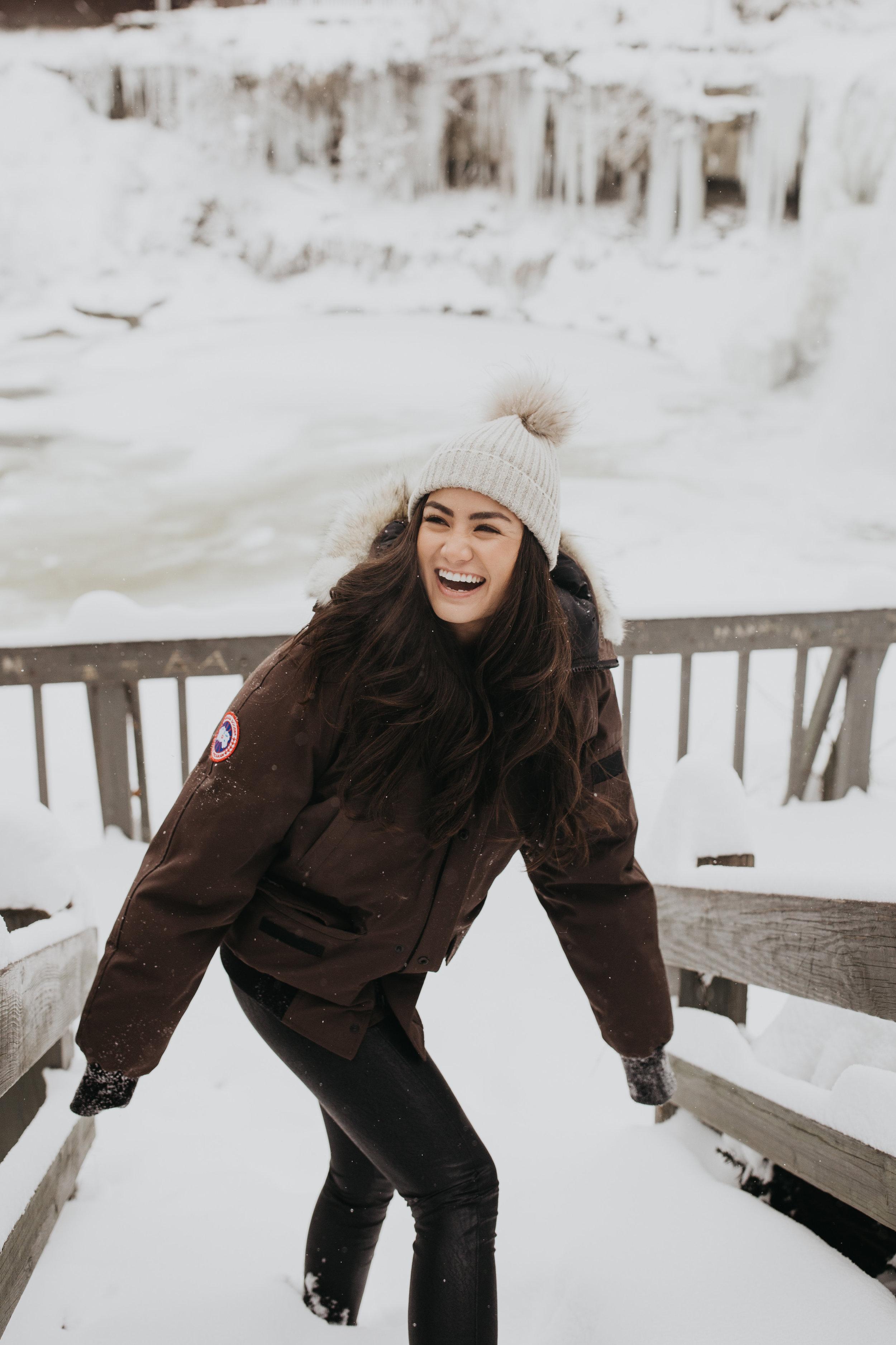 Caila Quinn The Bachelor Brown Canada Goose Coat Chagrin Falls Ohio