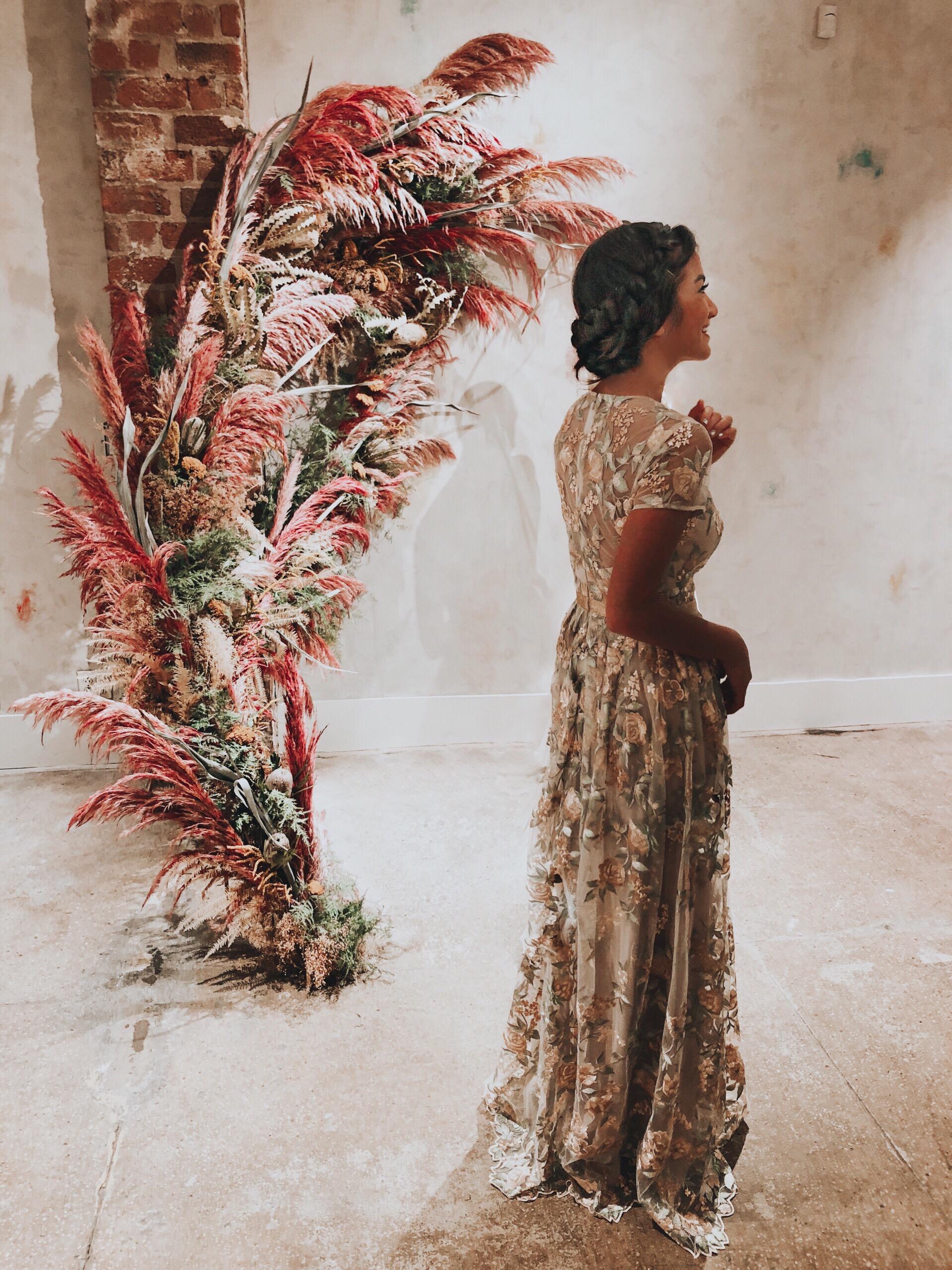 Caila Quinn The Bachelor BHLDN Wedding Guest Dresses Spring 2019