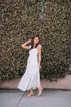 9b139b8171 Caila Quinn The Bachelor DSW Shoes Wedding Guest Outfit Ideas