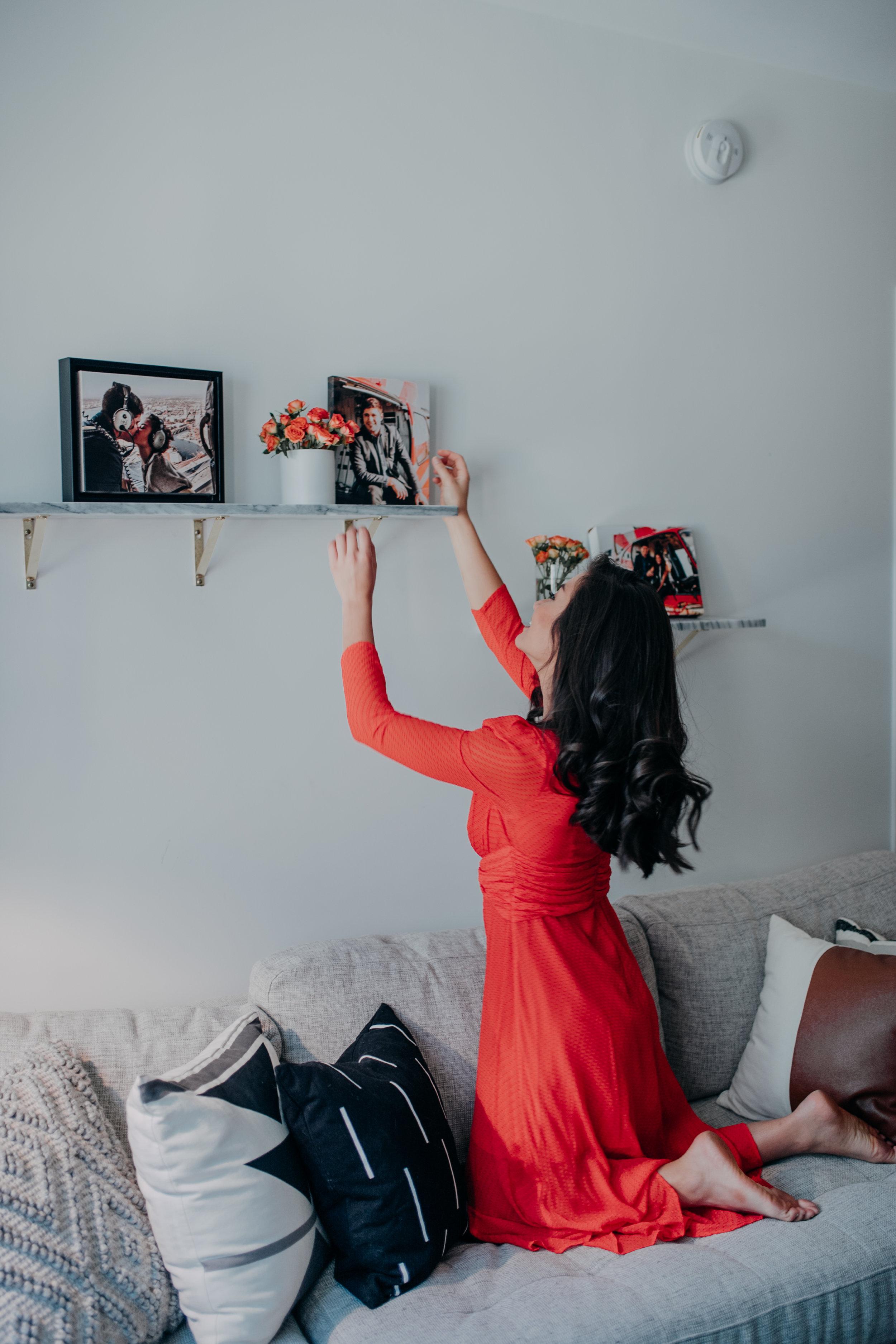 Caila Quinn The Bachelor Mixbook Canvas Print Shelf Decor