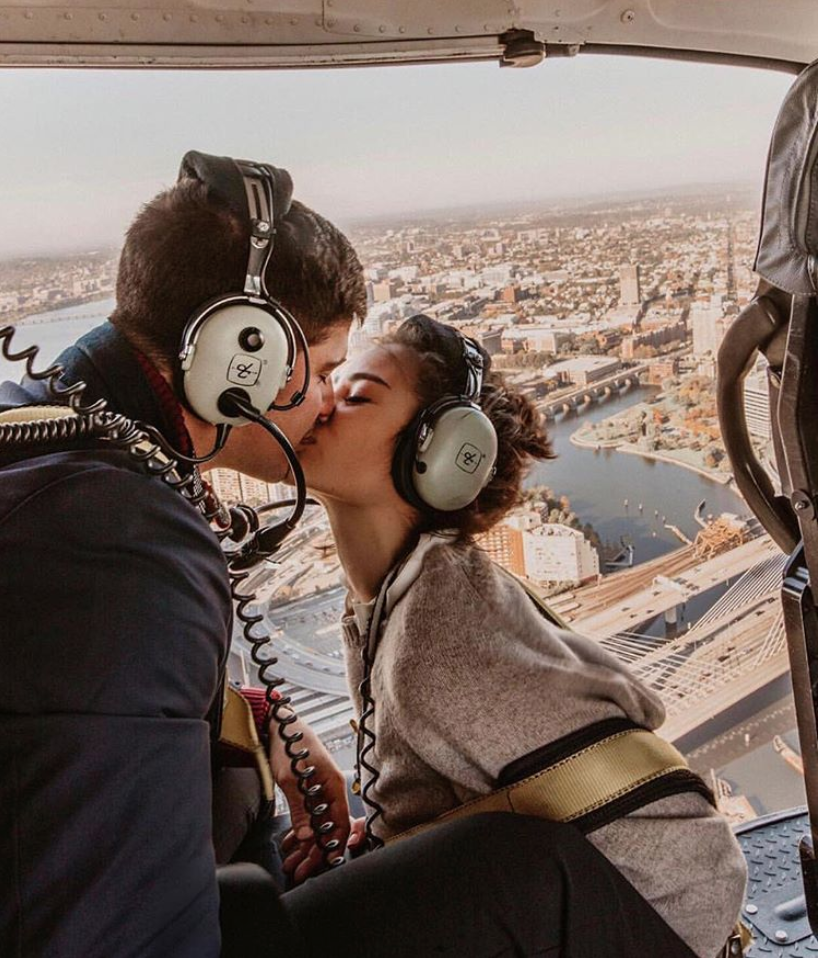 With Love Caila Quinn The Bachelor Nick Burrello Helicopter Kiss  Mixbook Printing