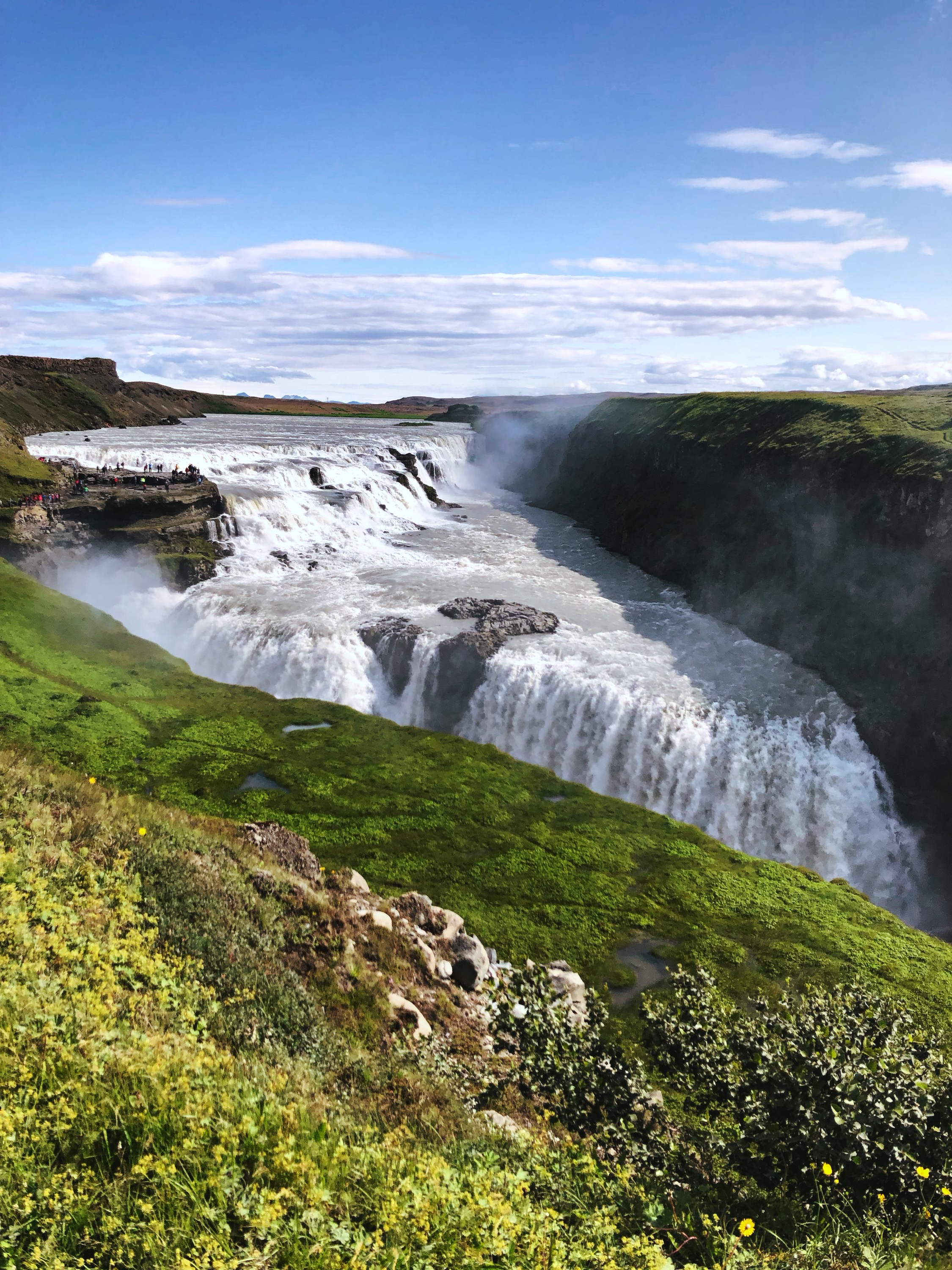Gullfoss Waterfall  along the Golden Circle Driving Route