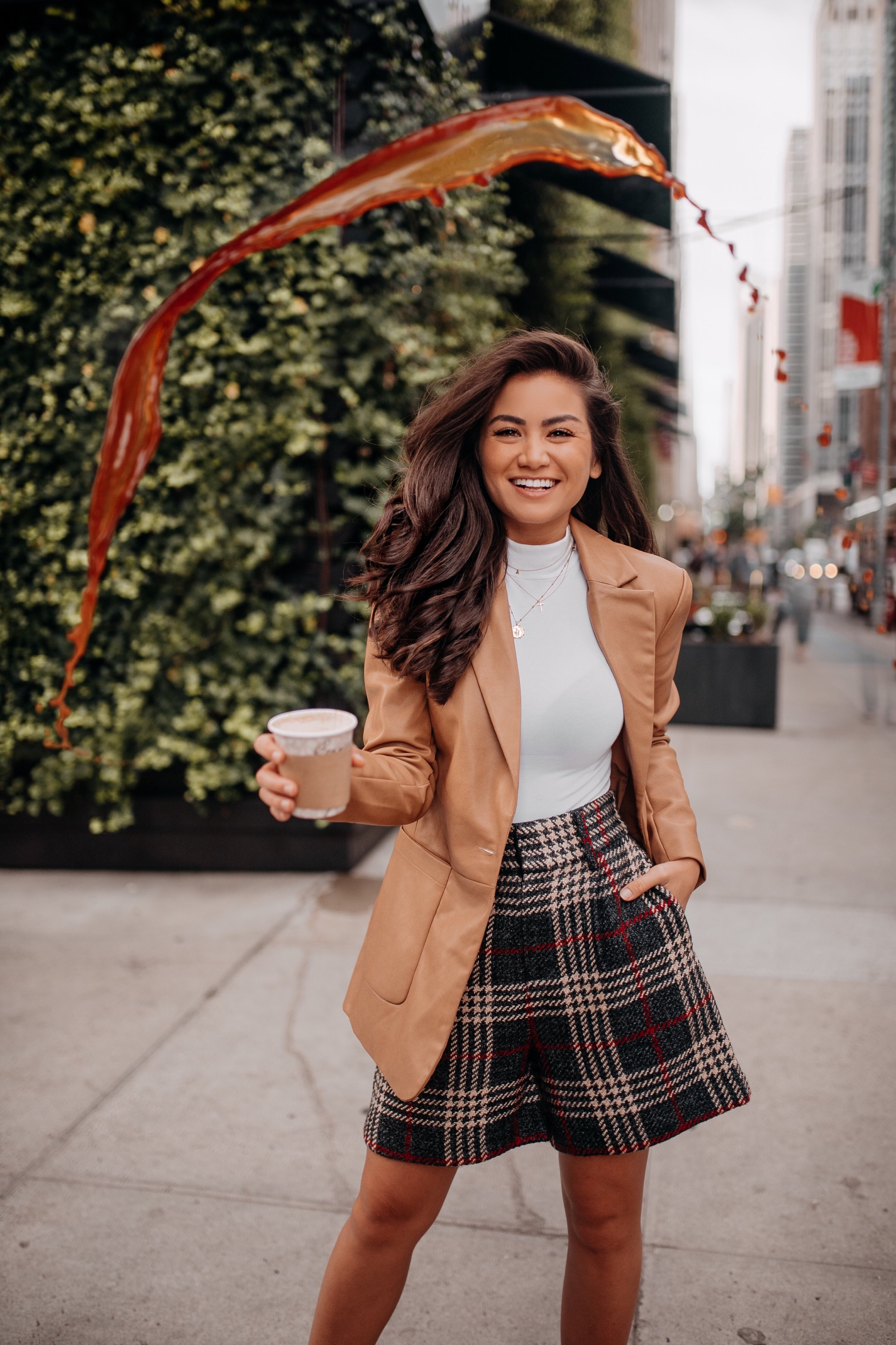 Caila Quinn The Bachelor Express Clothing NYFW New York Fashion Week Spilled Coffee