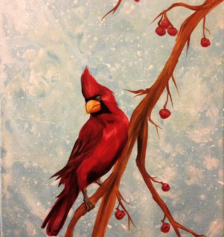 cardinal in winter commission