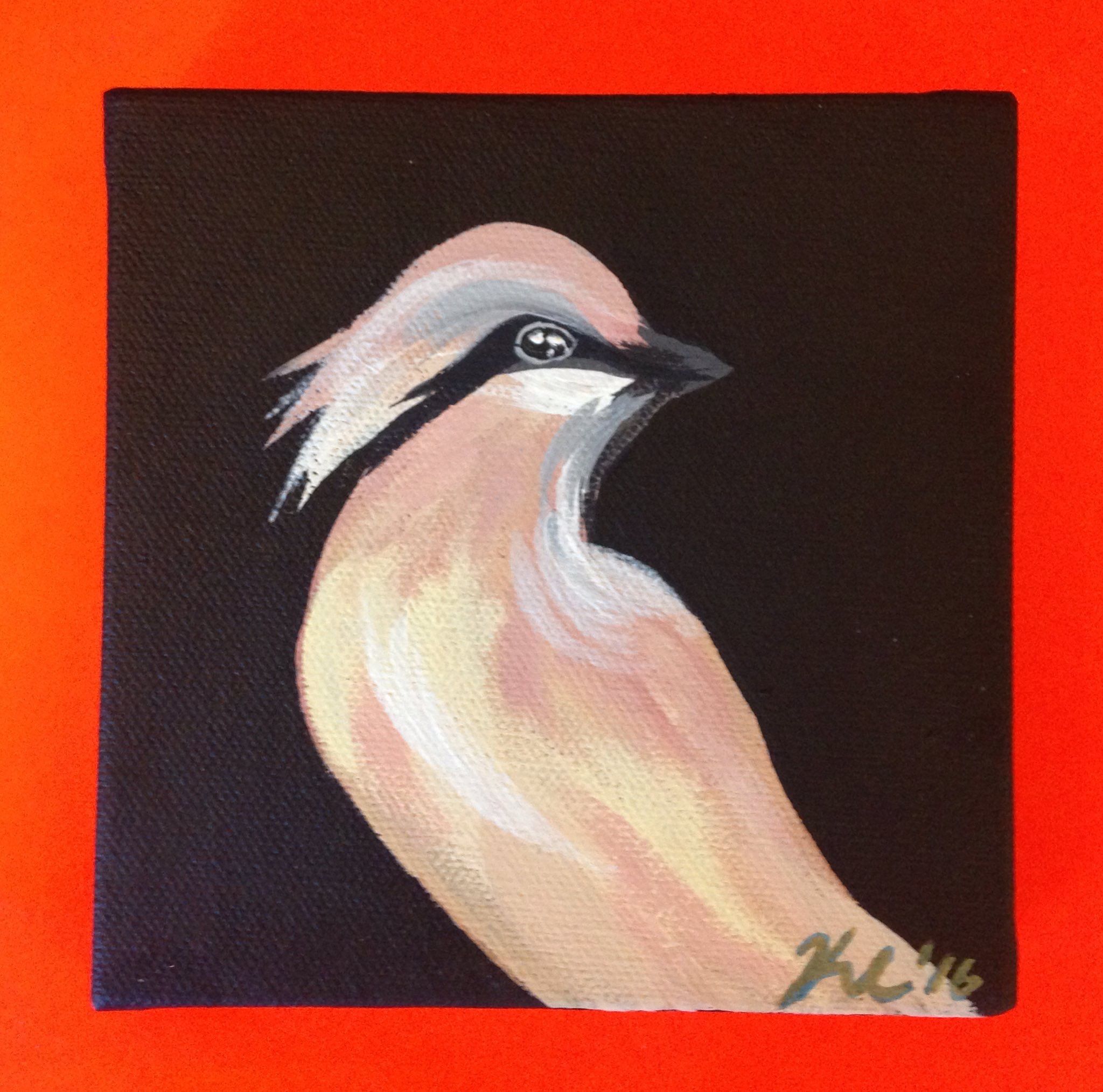cedar waxwing commission