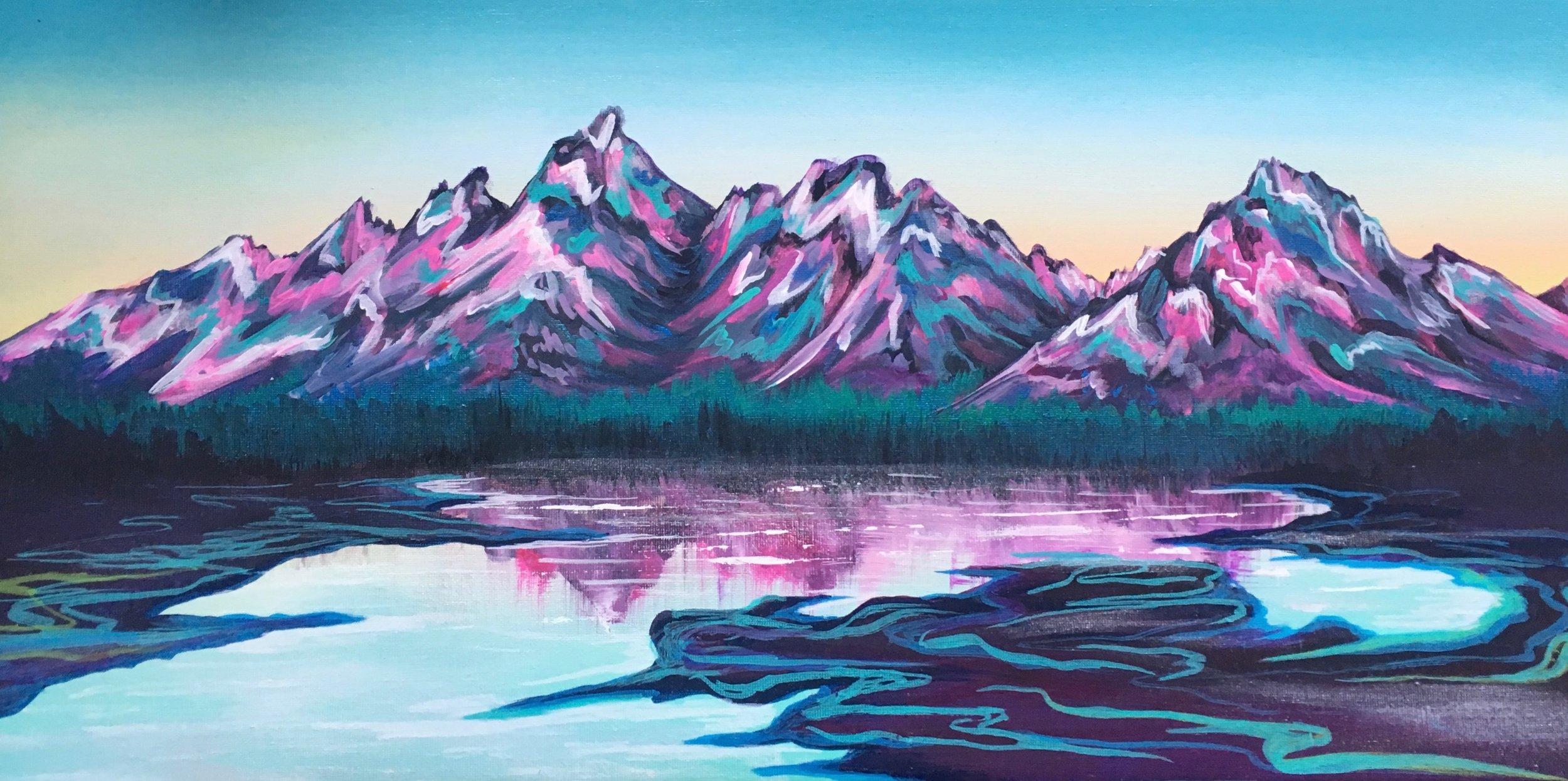 """2018 acrylic on canvas 12'24"""""""