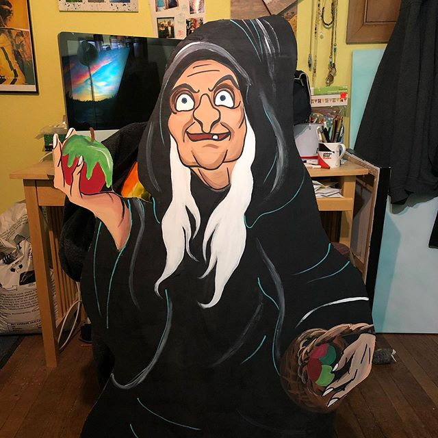 Important things being made in the studio Hahahhaha #careforanappledear #witch #mnartists