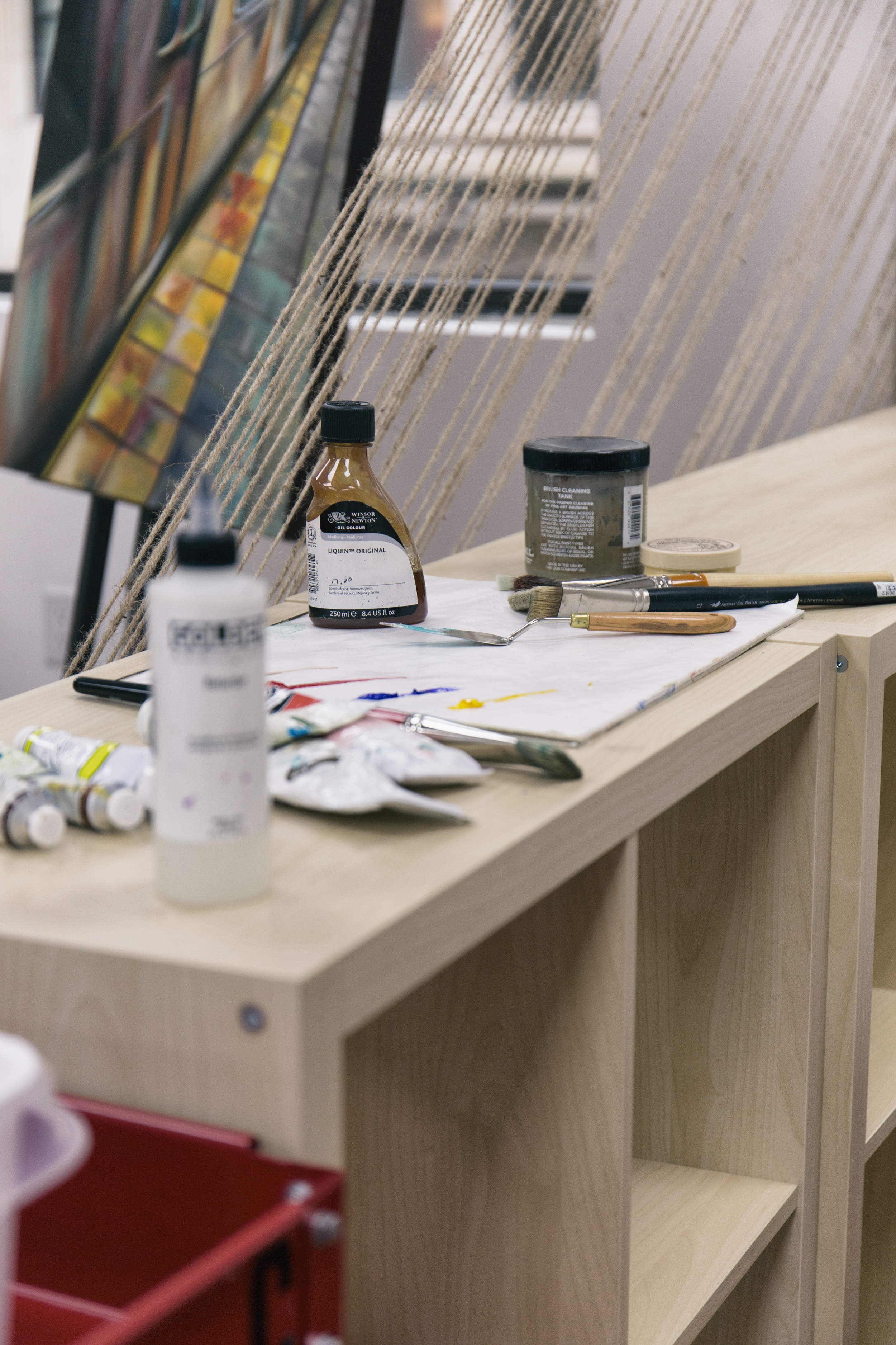 Artist Studio Painting Materials