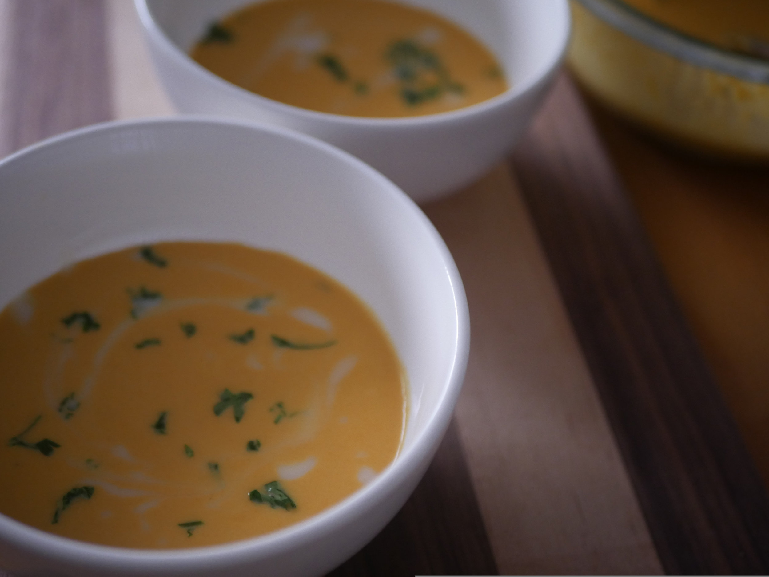 Vegan Thai Carrot Soup.