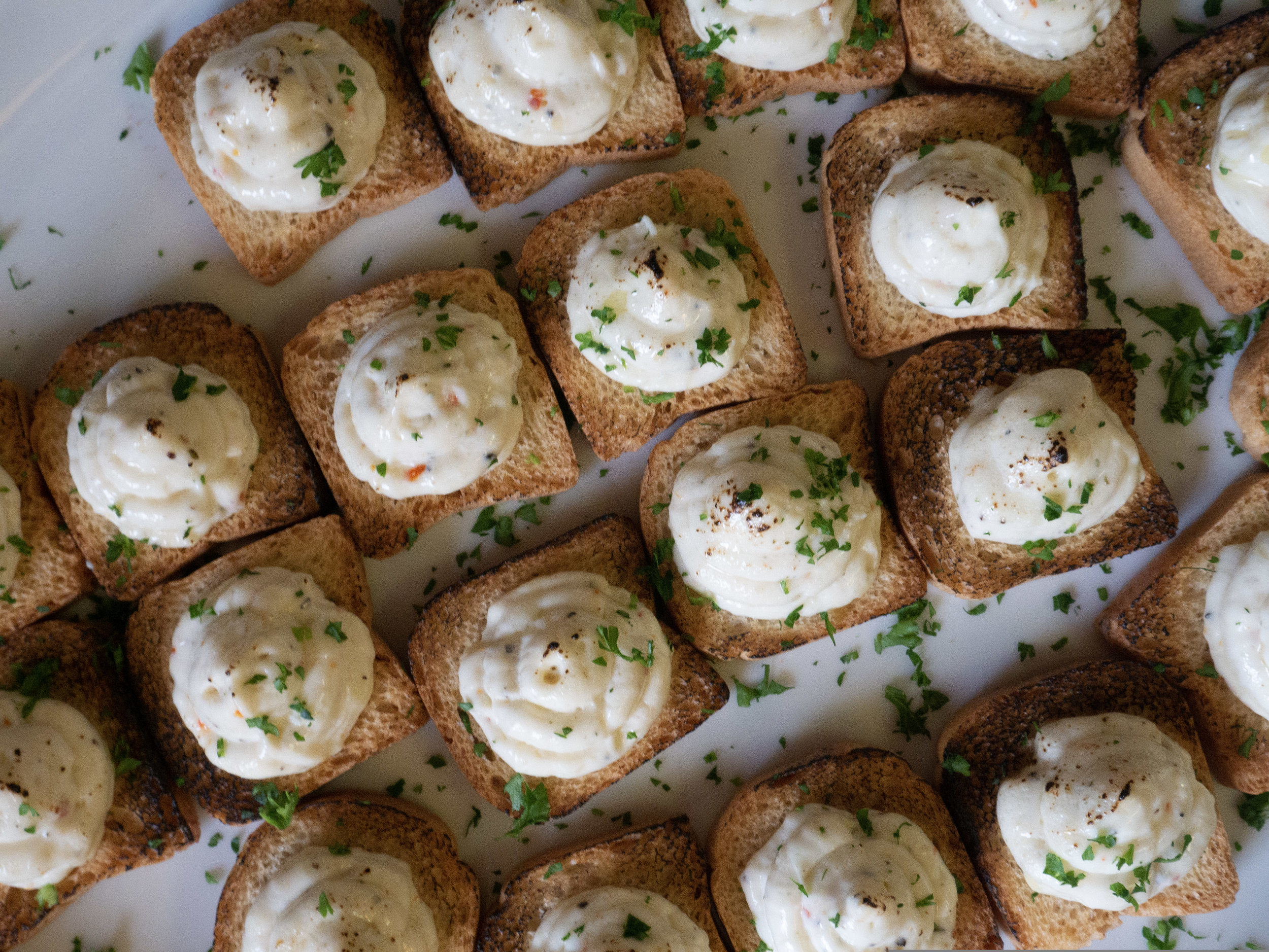 Whipped Herb Cream Cheese Canapes
