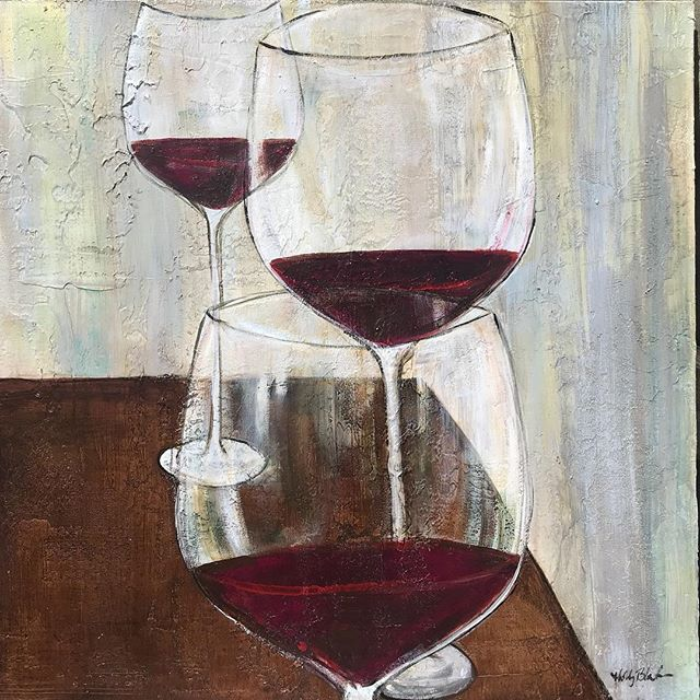 Small wine paintings available in the style of the large one I did for @3palmsgrille in Ponte Vedra. DM me for details. #wine #instaart #instagood #galleryartist #redwine #painting #pontevedra #texture #artist #artwork #drink #creative  #wine🍷 #wineart #homedecor #decor #needed #want #love #colorful